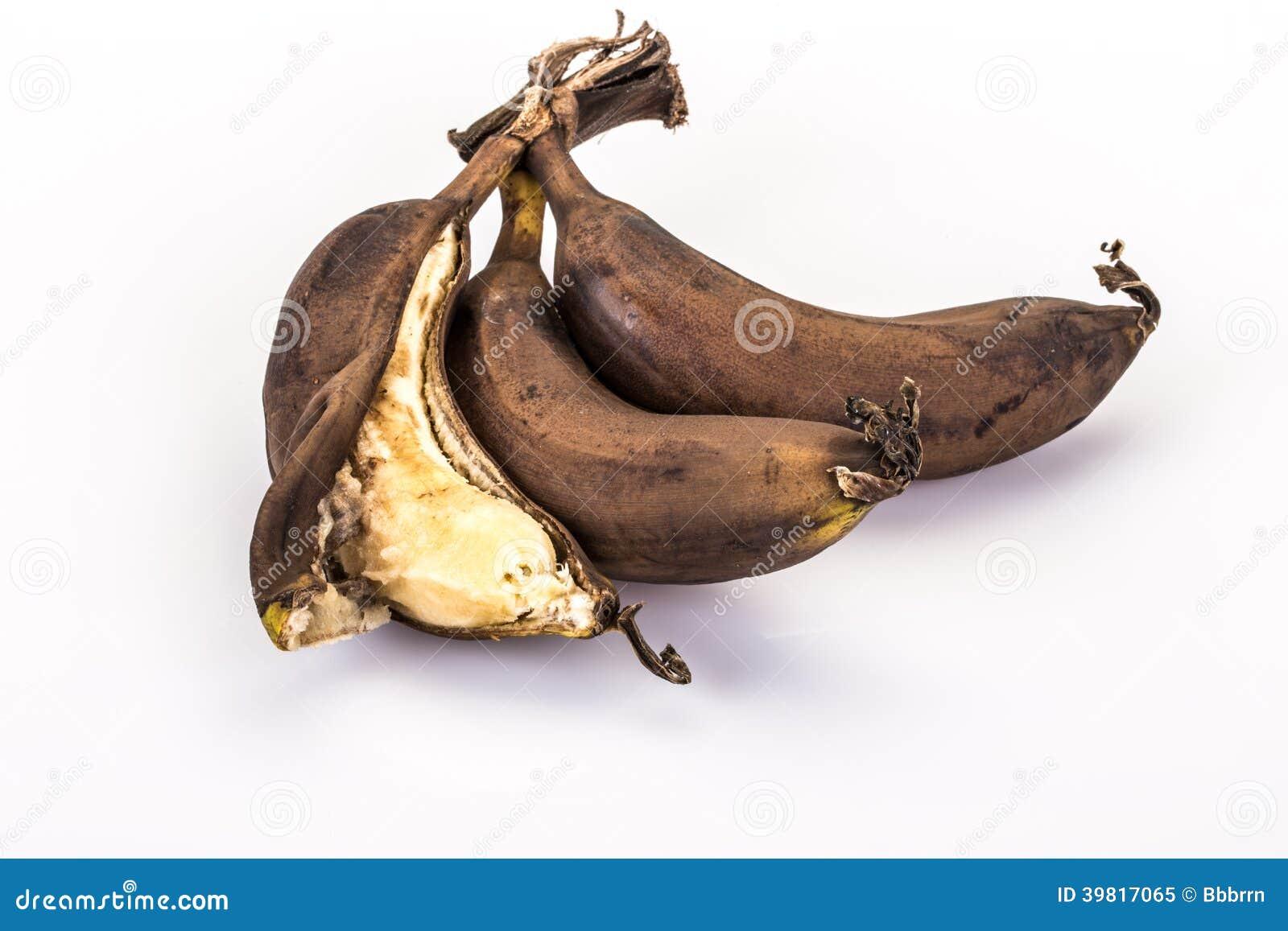 在成熟(腐烂的)香蕉