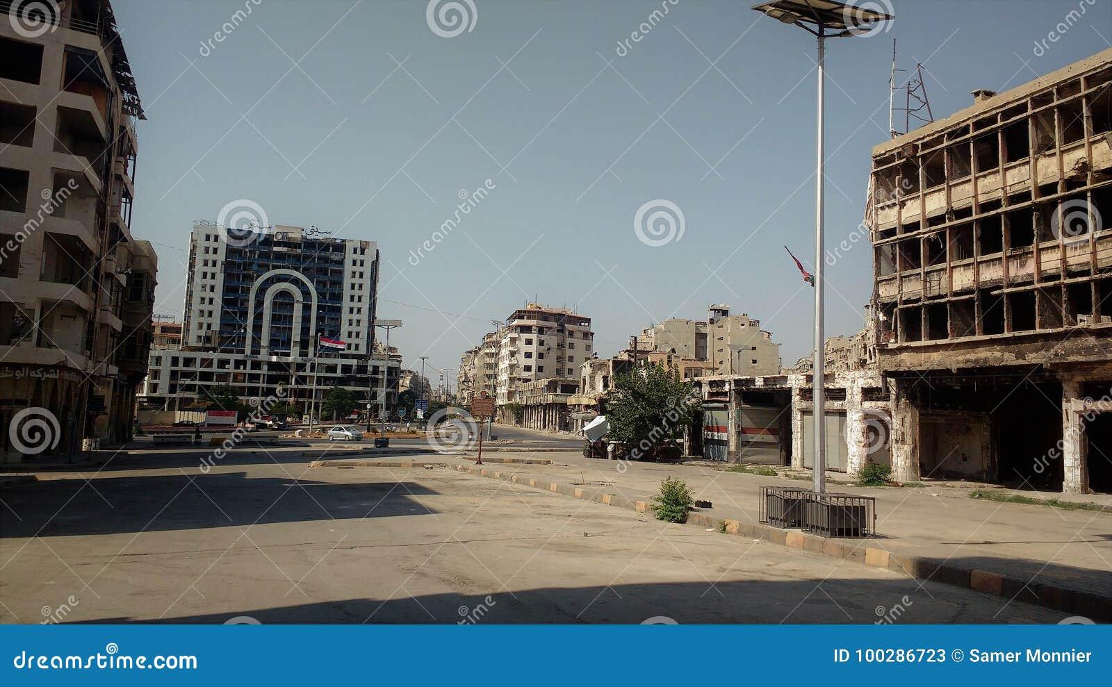 在战争以后的homs城市