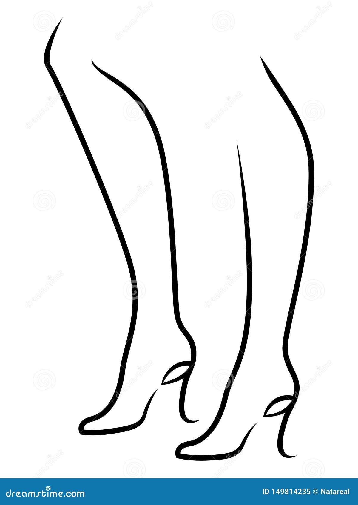 在抽象鞋子的优美的女性脚