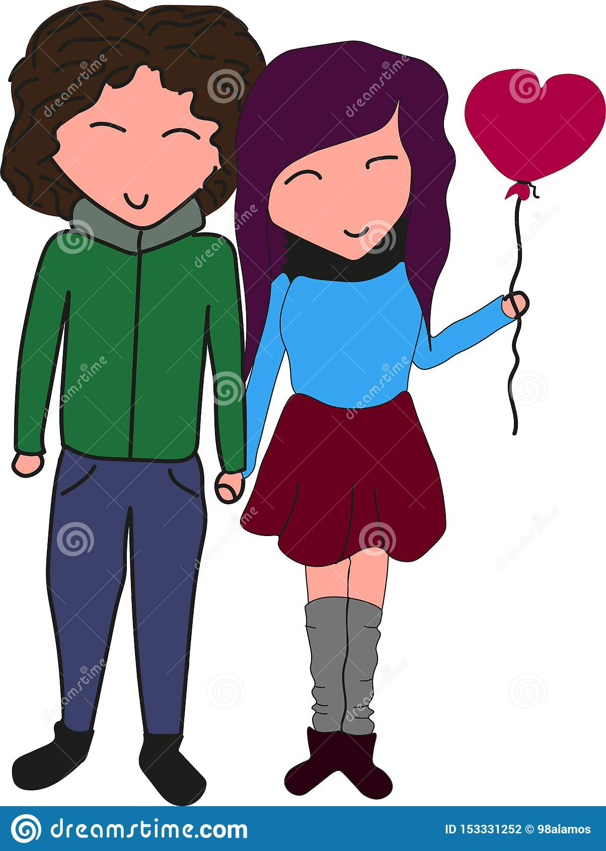 在握手的爱的好的可爱的夫妇