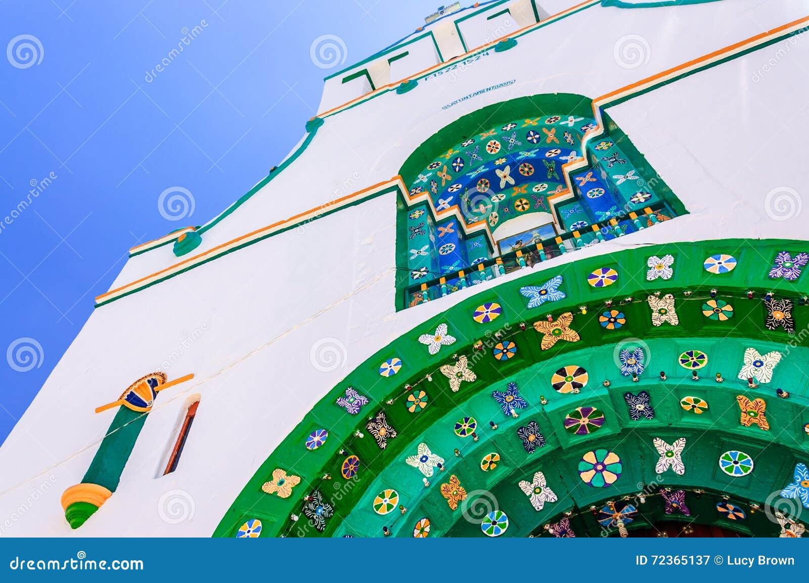 在教会, Chamula,墨西哥的特写镜头细节