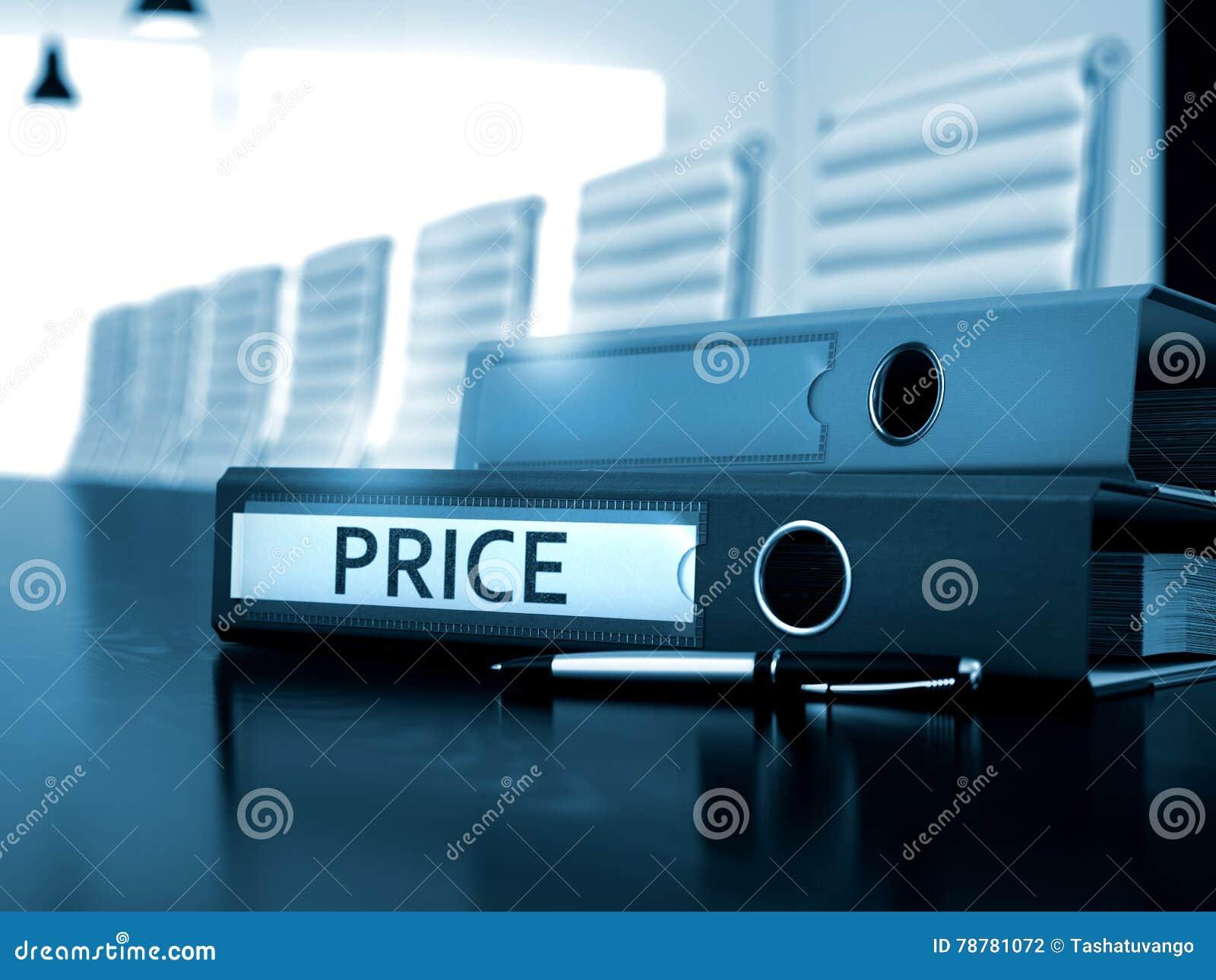 在文件夹的价格 被定调子的图象 3d