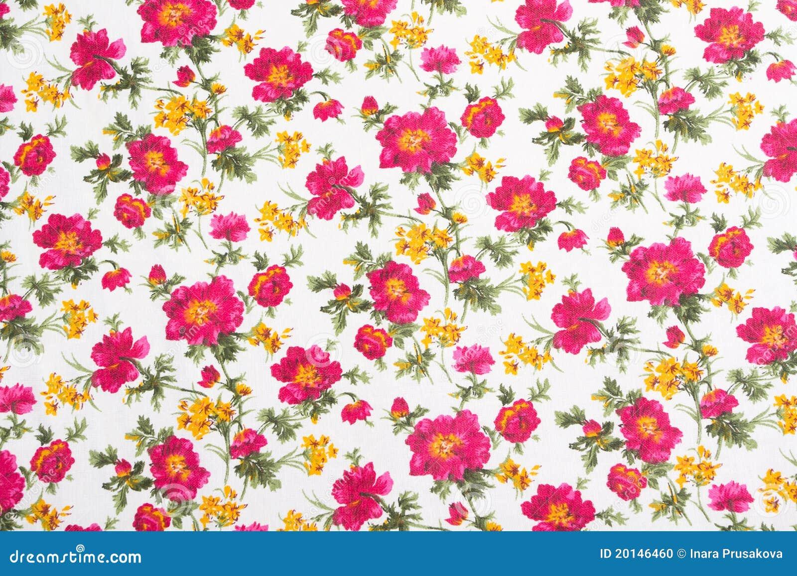 在无缝的布料的花卉模式。 花花束。