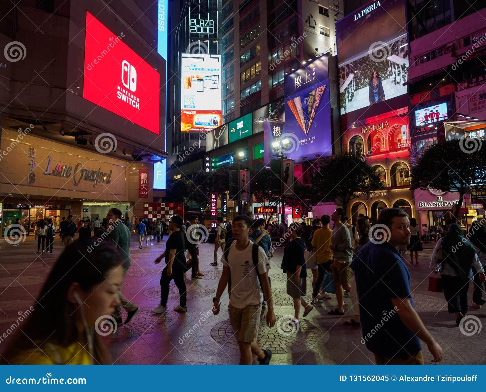 在时报广场购物中心附近被拍的照片在罗素街道香港附近