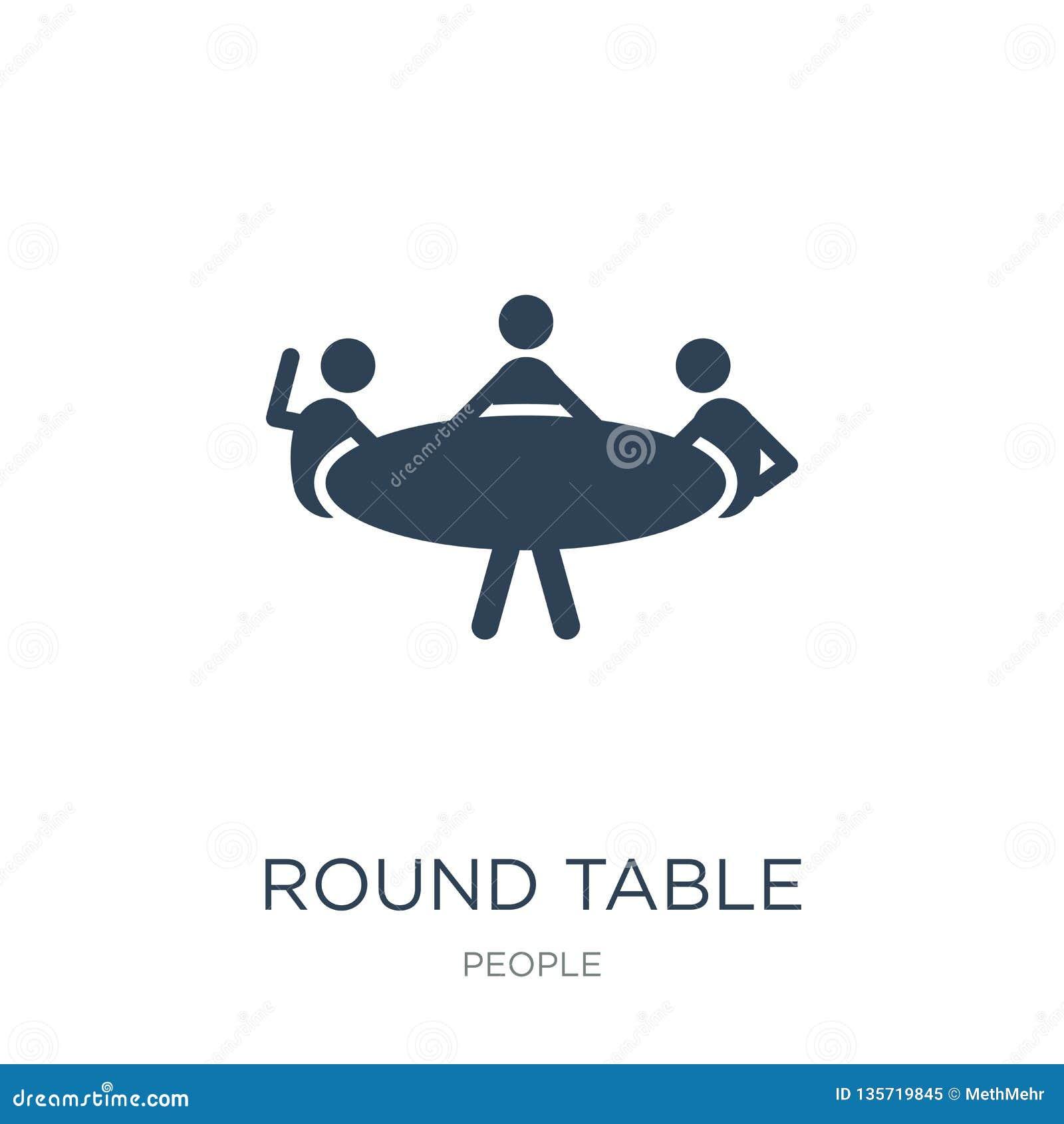 在时髦设计样式的圆桌象 在白色背景隔绝的圆桌象 圆桌现代传染媒介的象简单和
