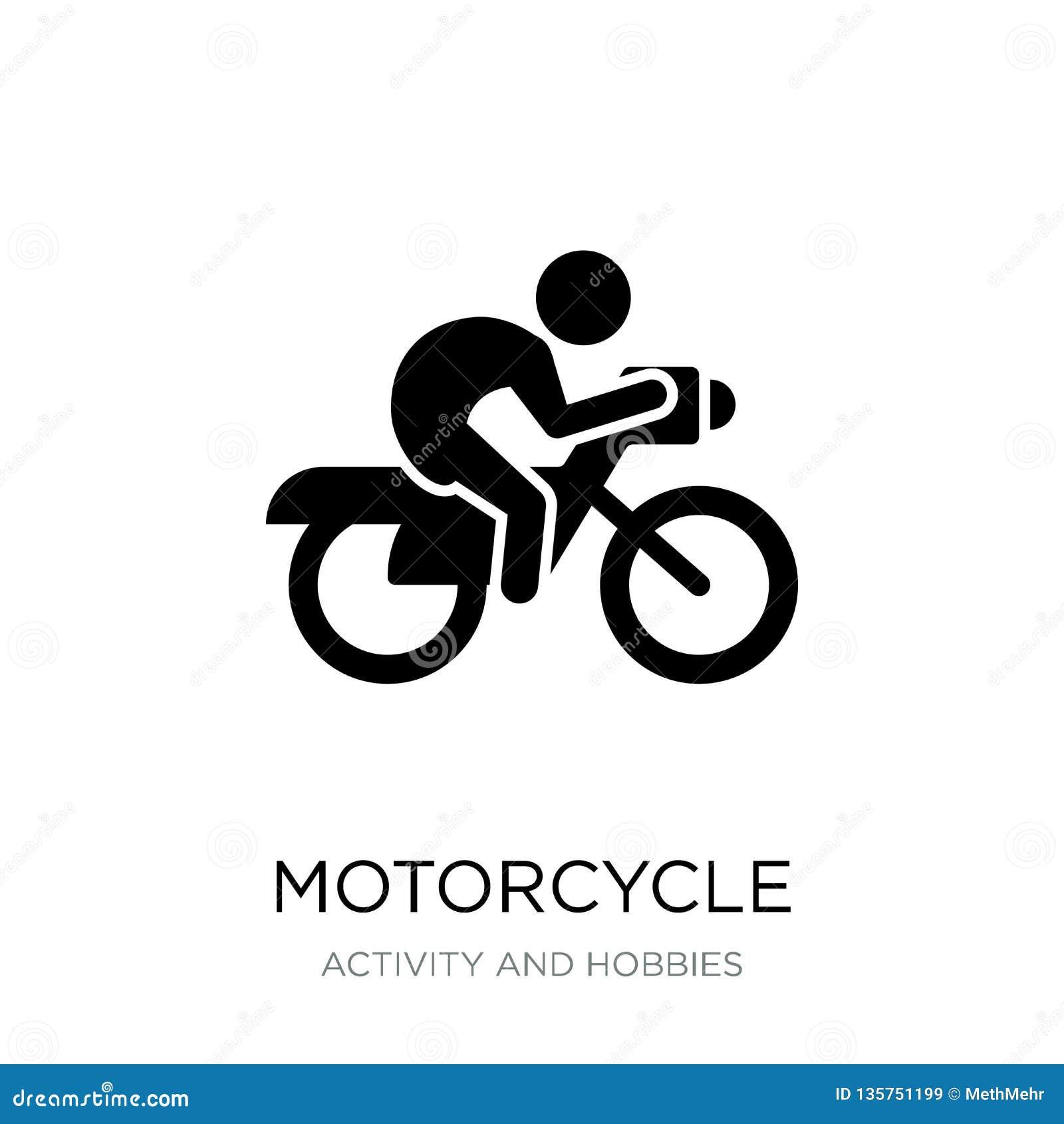 在时髦设计样式的摩托车象 在白色背景隔绝的摩托车象 摩托车现代传染媒介的象简单和