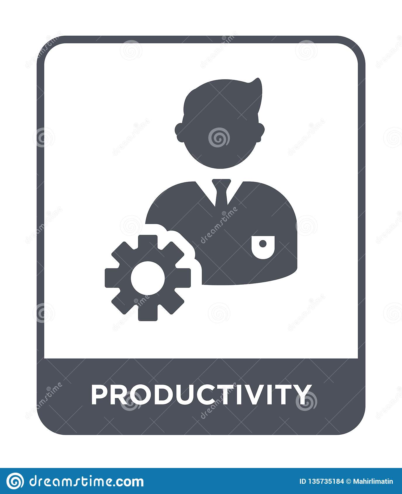 在时髦设计样式的生产力象 在白色背景隔绝的生产力象 生产力简单传染媒介的象和