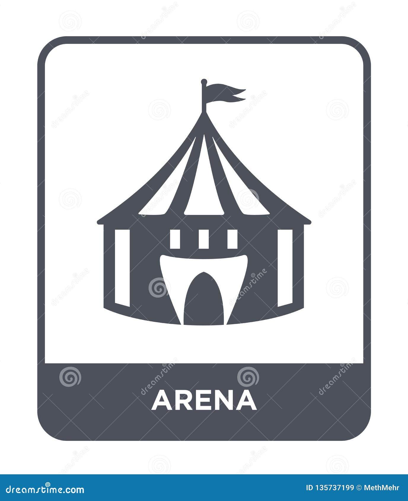 在时髦设计样式的竞技场象 在白色背景隔绝的竞技场象 竞技场传染媒介象简单和现代平的标志为