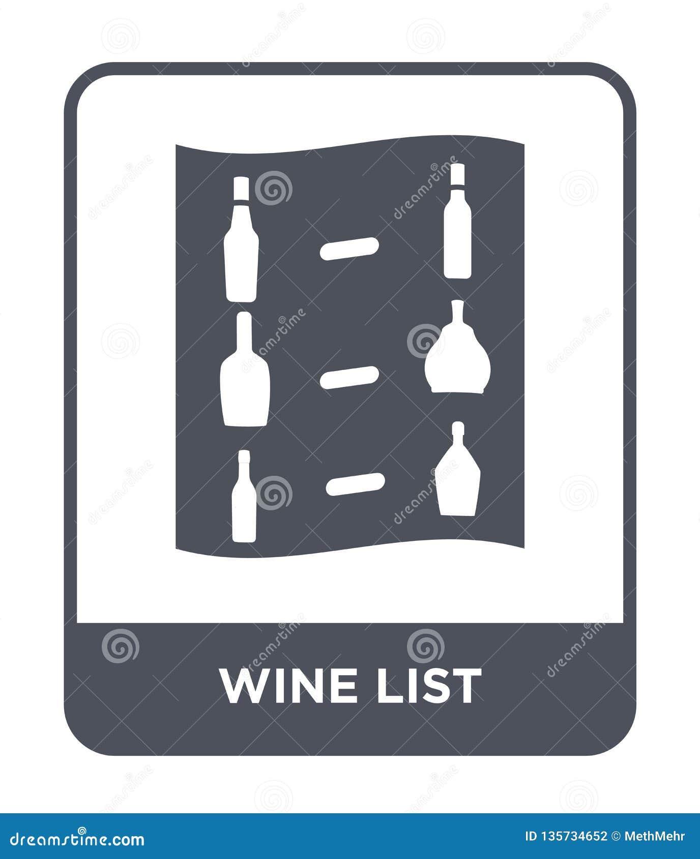 在时髦设计样式的酒类一览表象 在白色背景隔绝的酒类一览表象 酒类一览表传染媒介象简单和现代舱内甲板