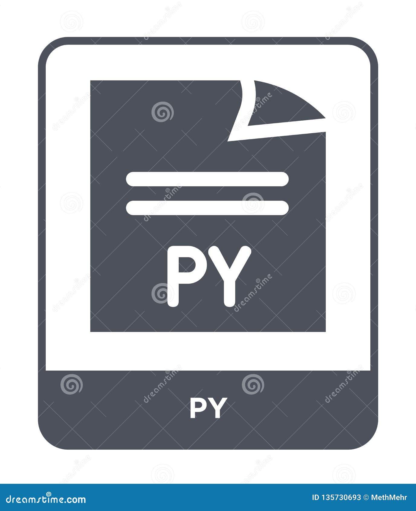 在时髦设计样式的py象 在白色背景隔绝的py象 网站的py传染媒介象简单和现代平的标志,