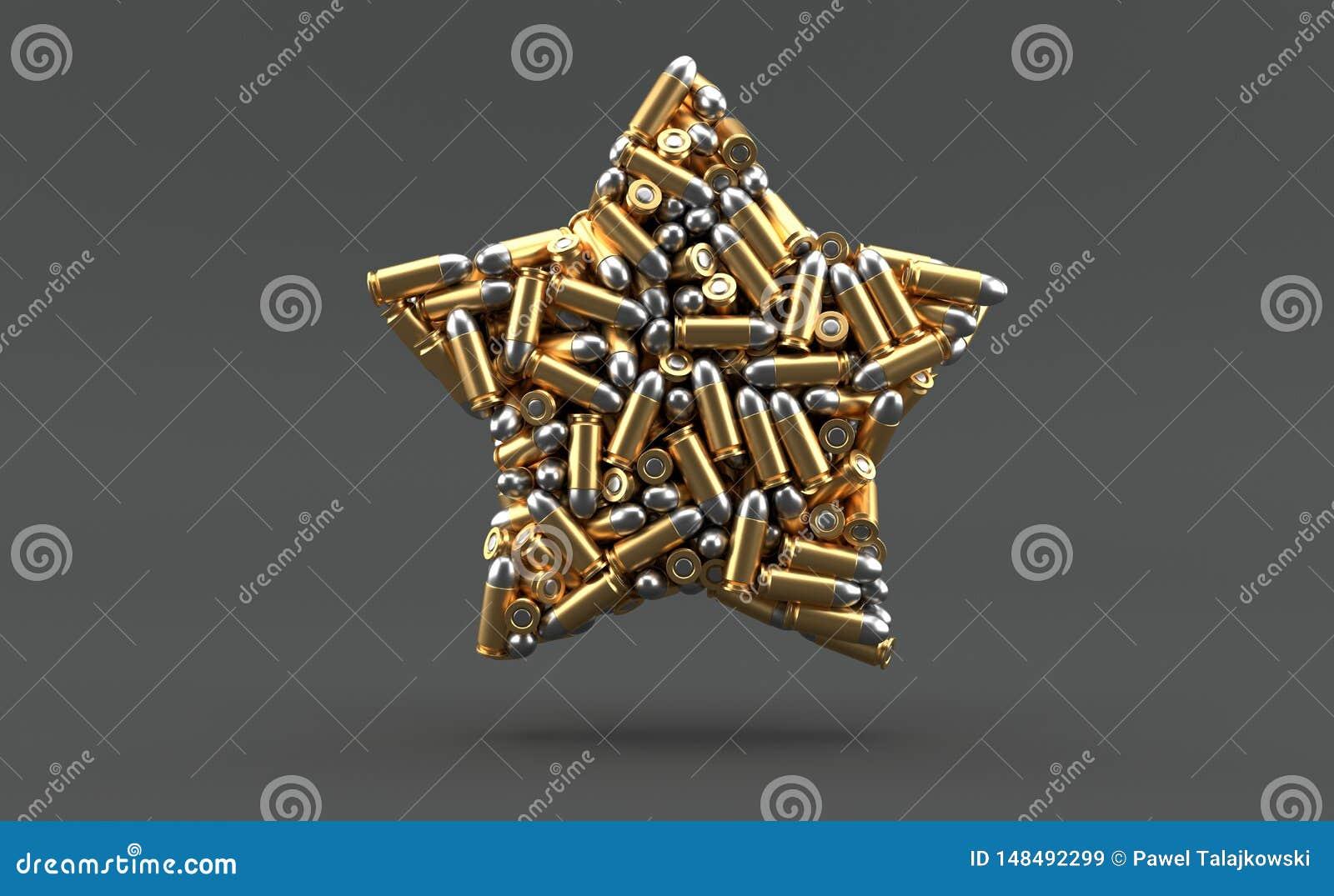 在星形状的弹药