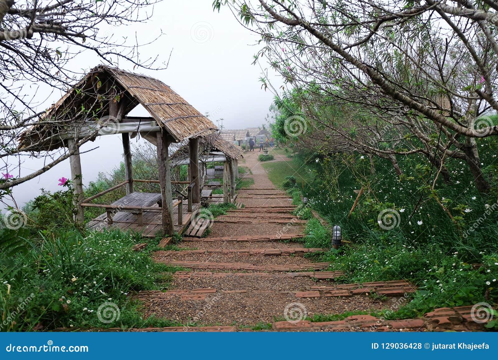 在星期一果酱观点的村庄在清迈,泰国