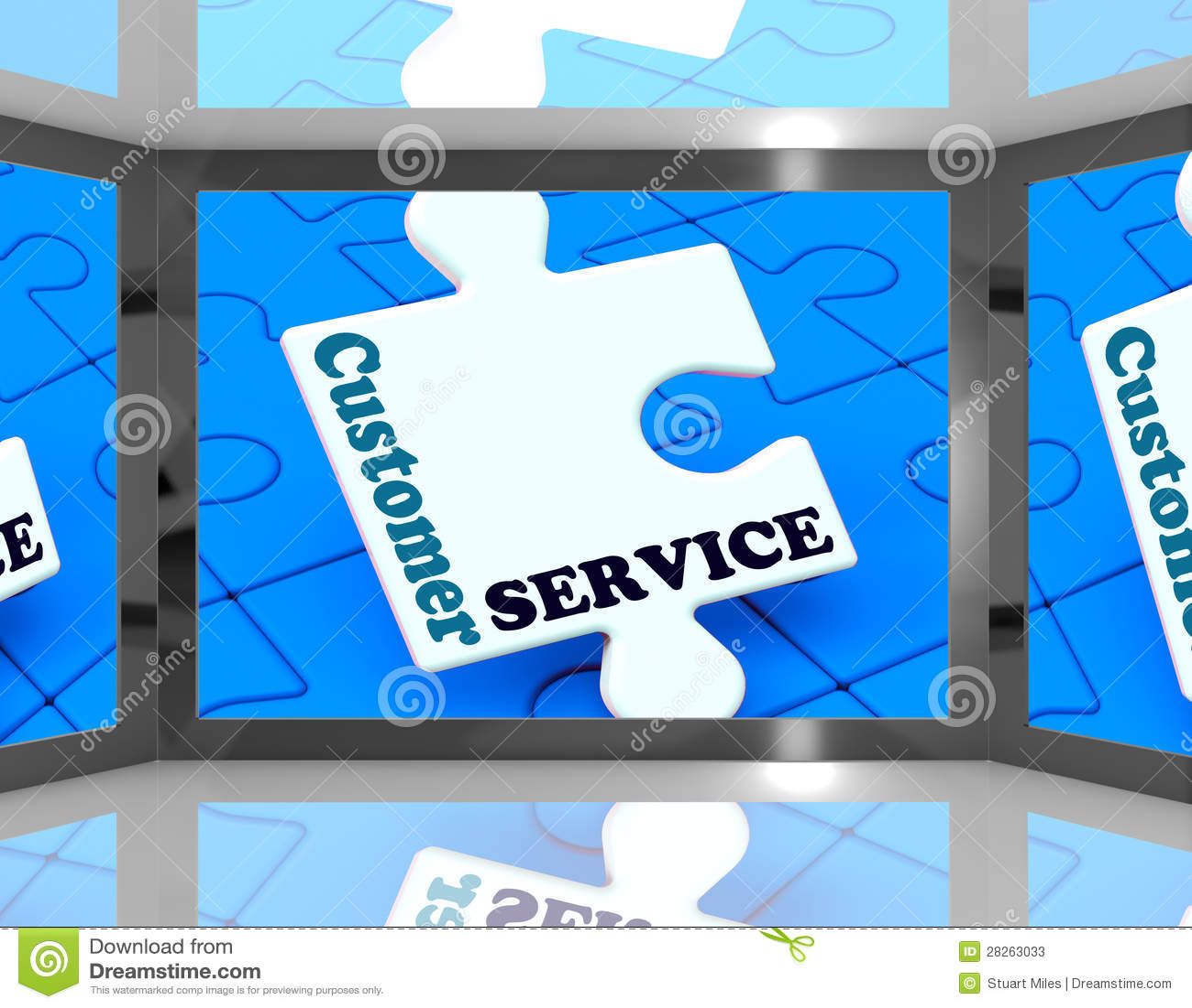在显示用户支持的屏幕上的顾客服务