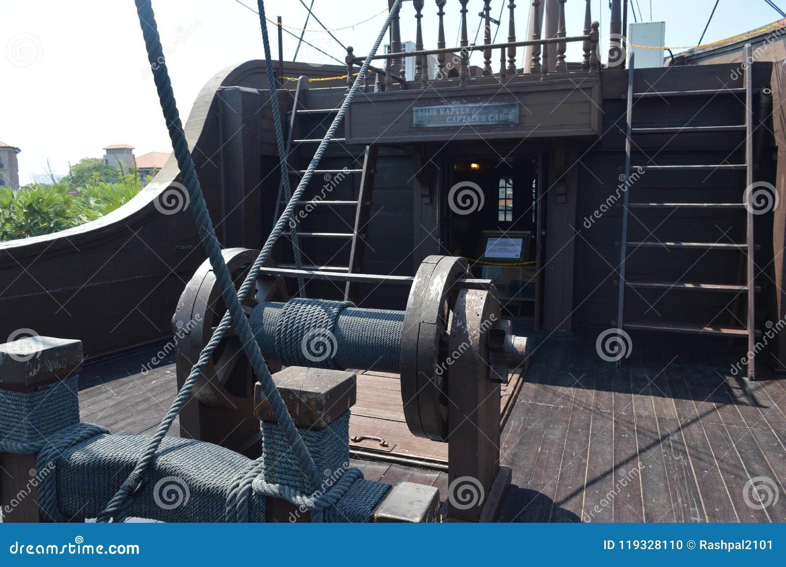 在显示的海盗船