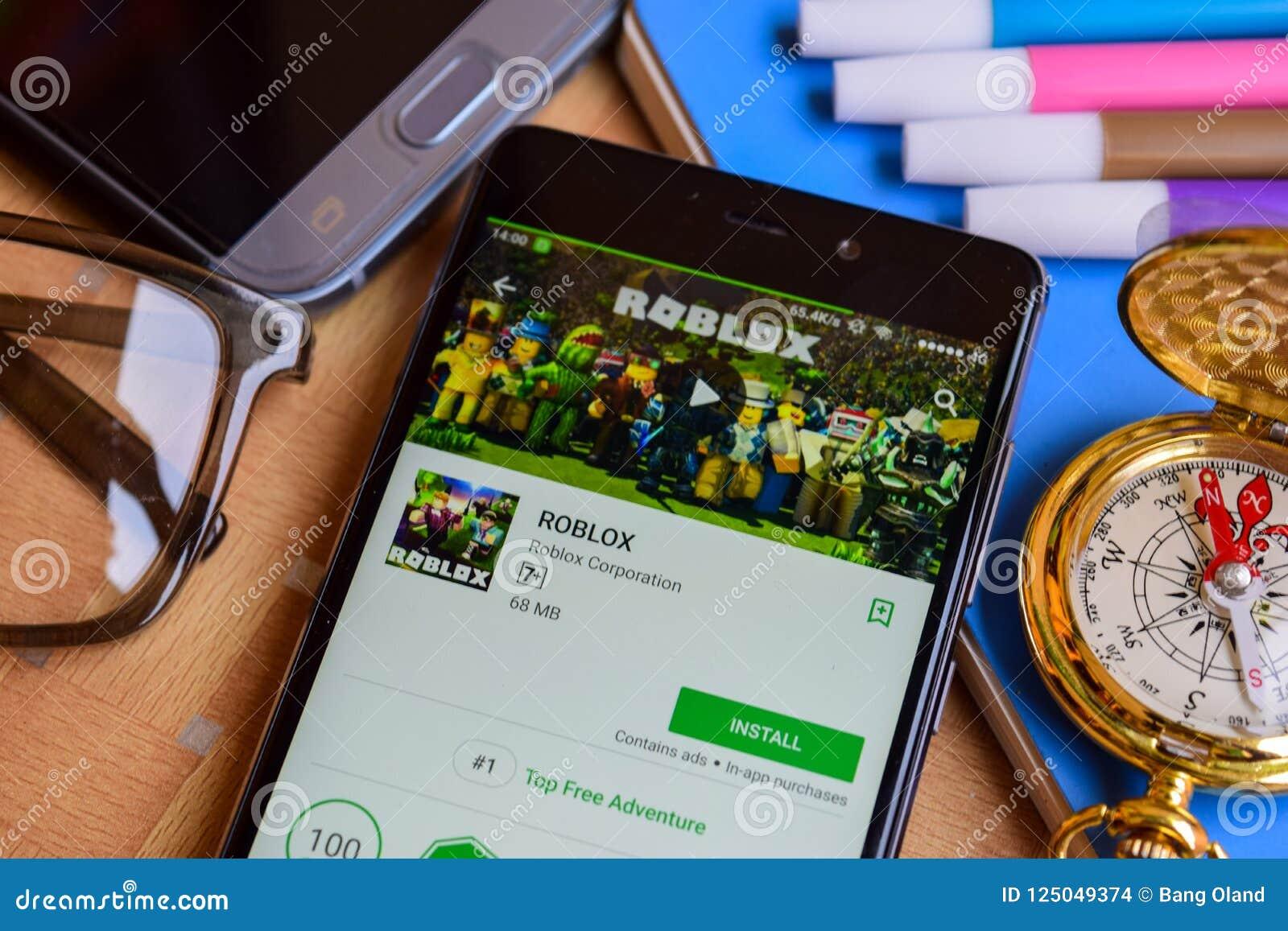 在智能手机屏幕上的ROBLOX dev app