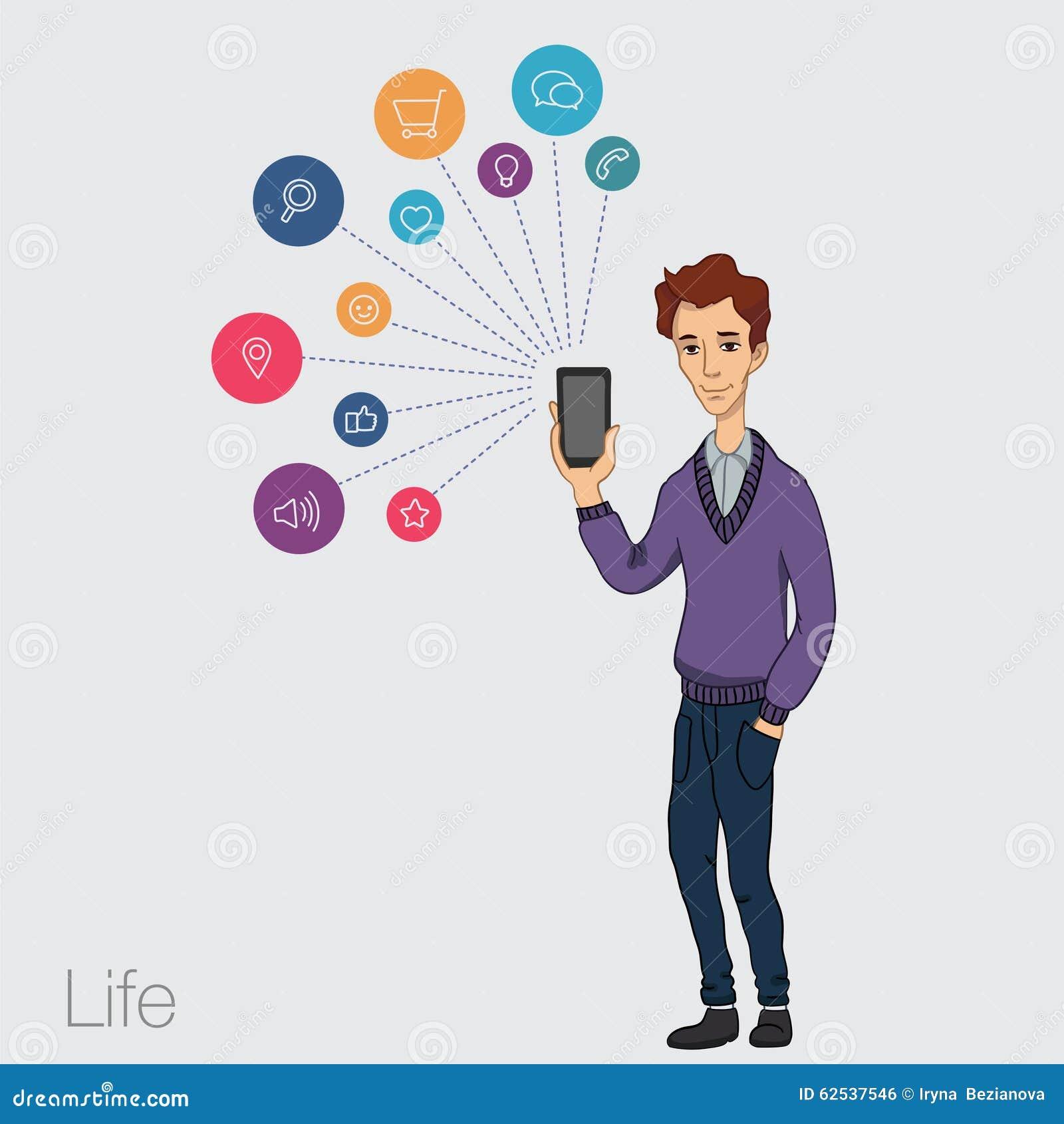 在智能手机的联机服务-娱乐和事务通过云彩技术