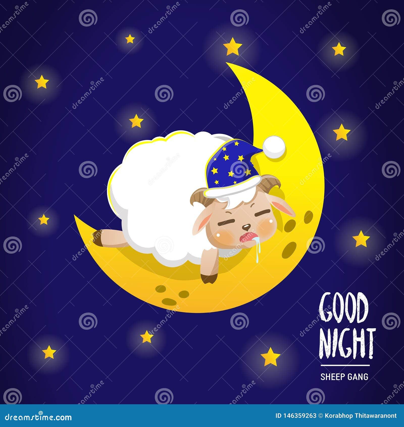 在月亮的绵羊睡眠