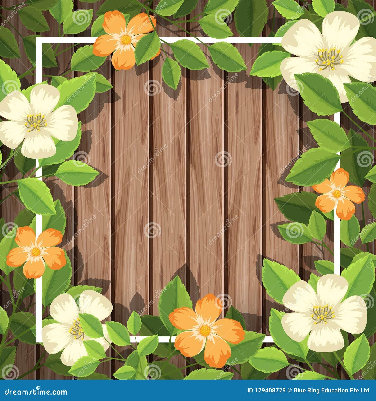 在木制框架的花
