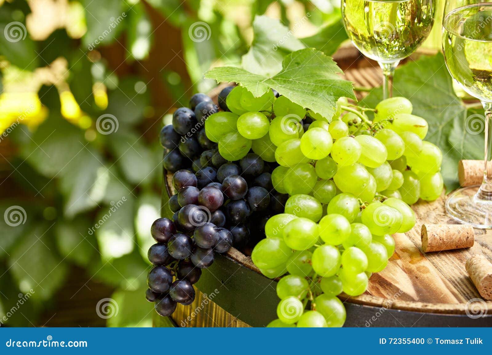 在木桶的葡萄