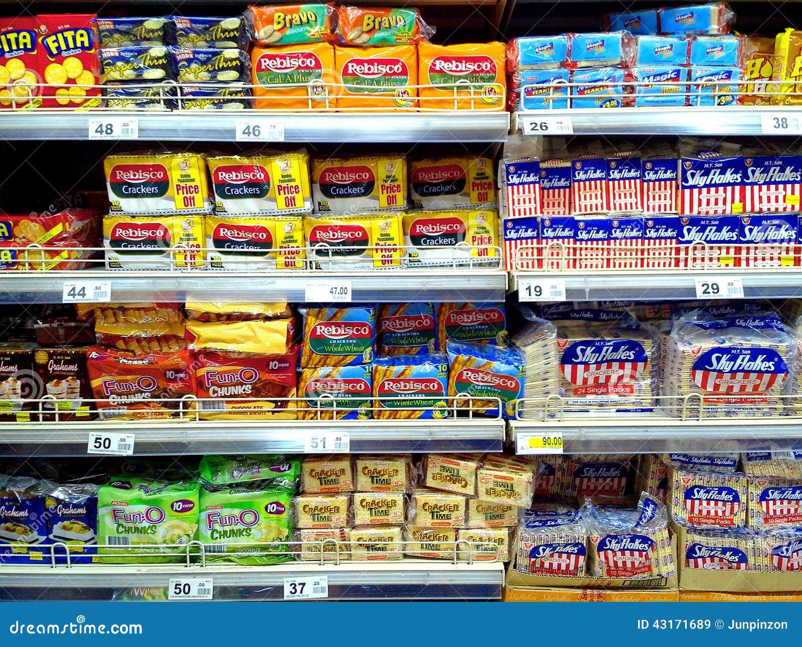 在杂货和薄脆饼干卖的饼干
