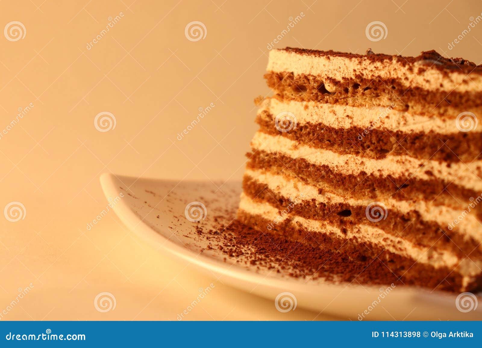 在板材的可口蛋糕