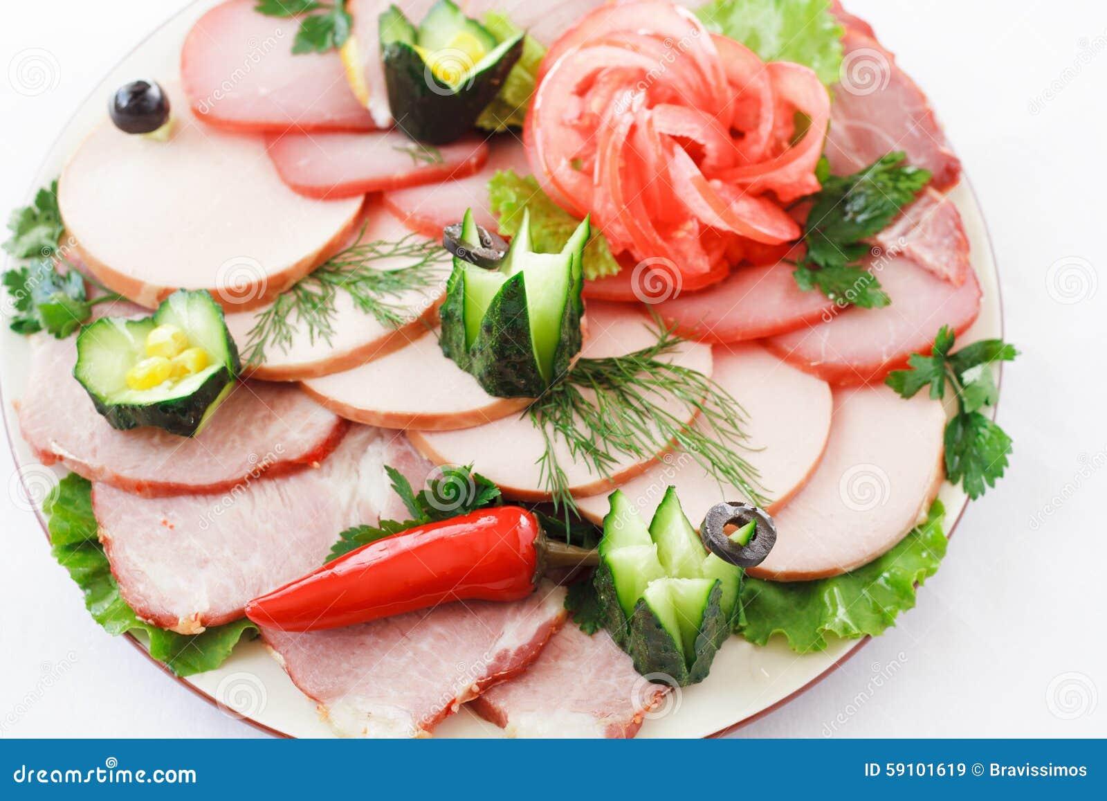 在板材的被分类的肉
