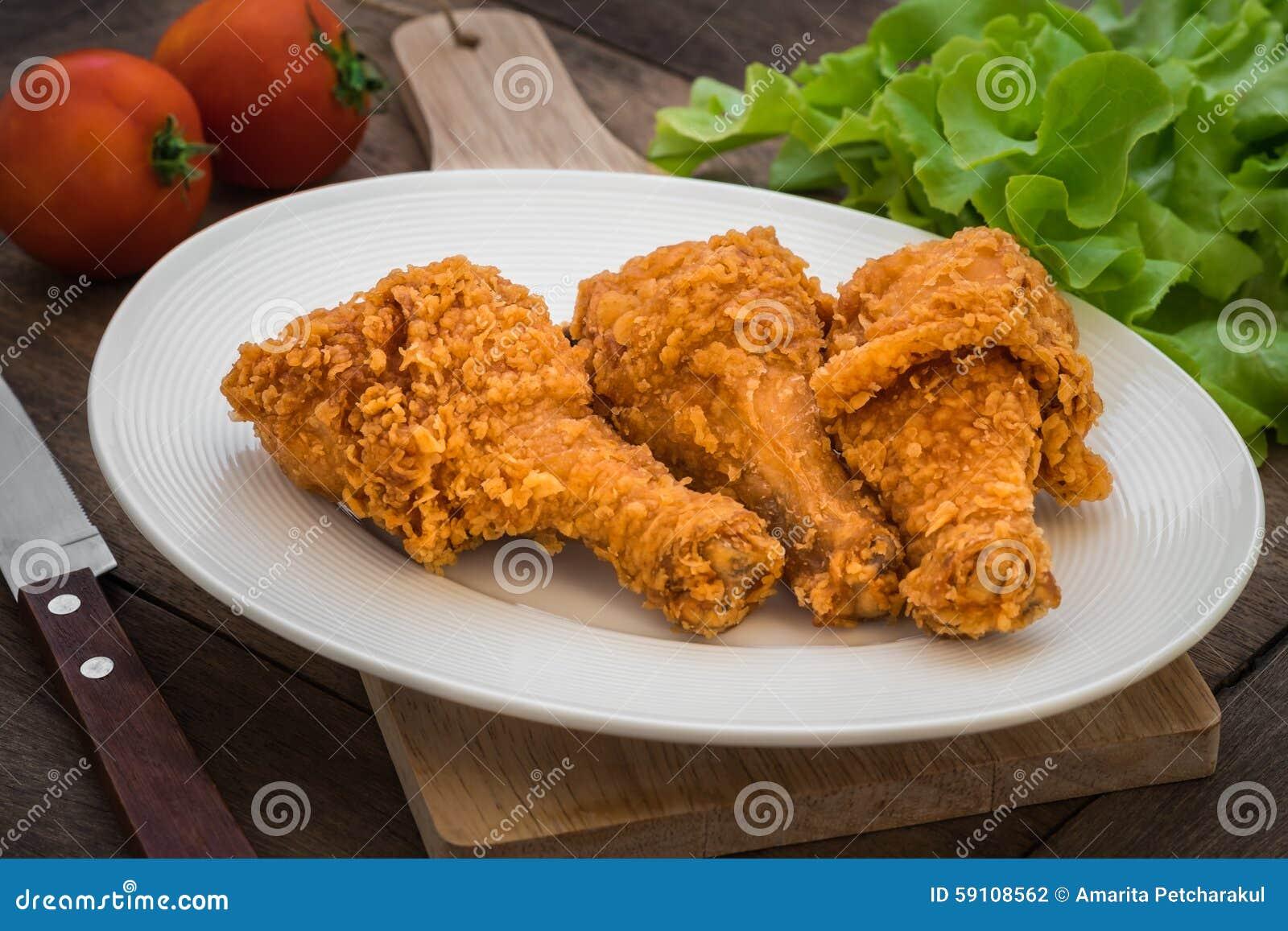 在板材的酥脆炸鸡
