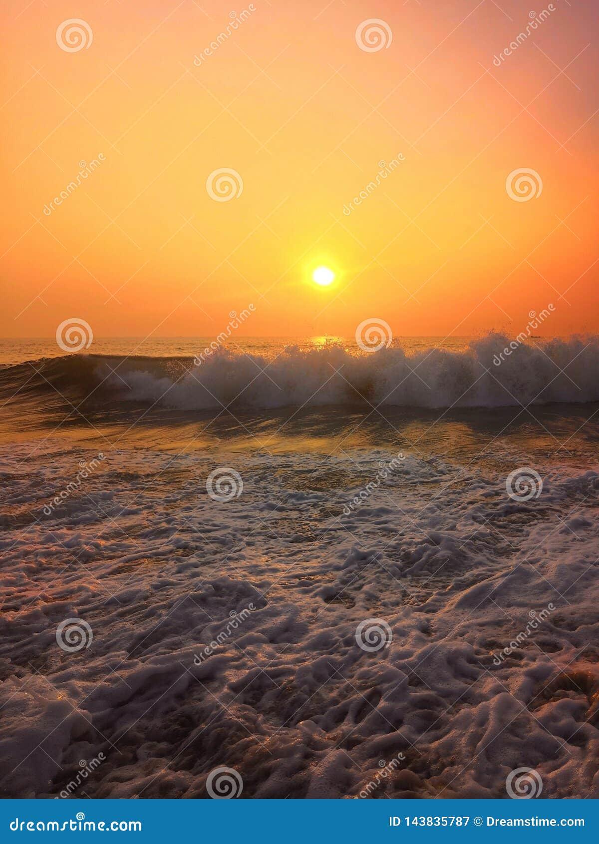 在果阿的日落