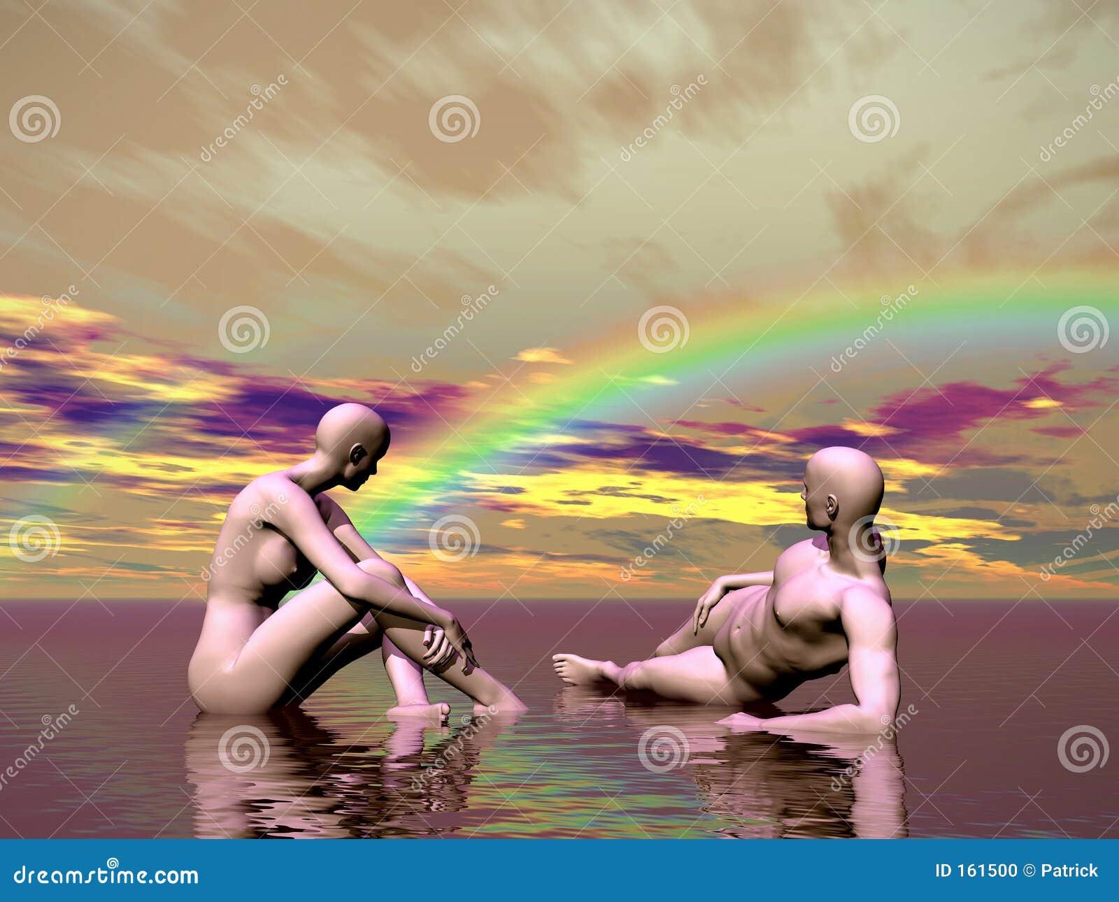 在某处彩虹