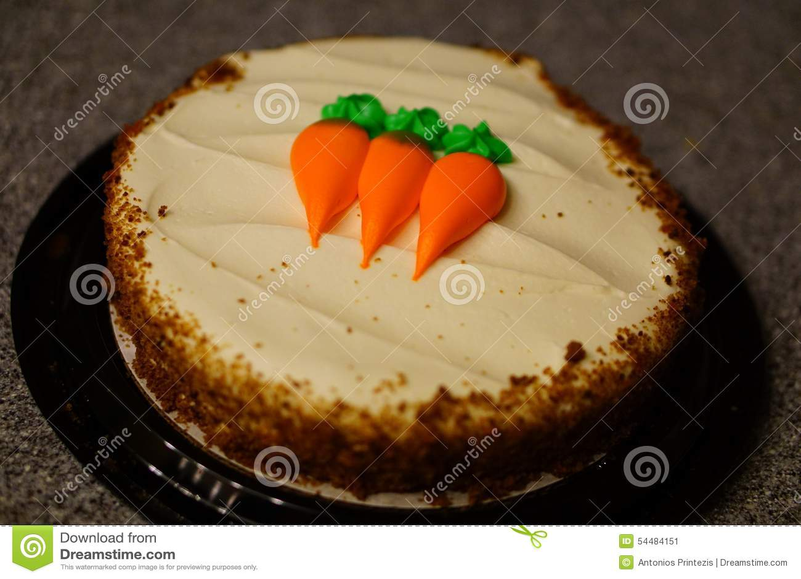 在柜台的胡萝卜糕
