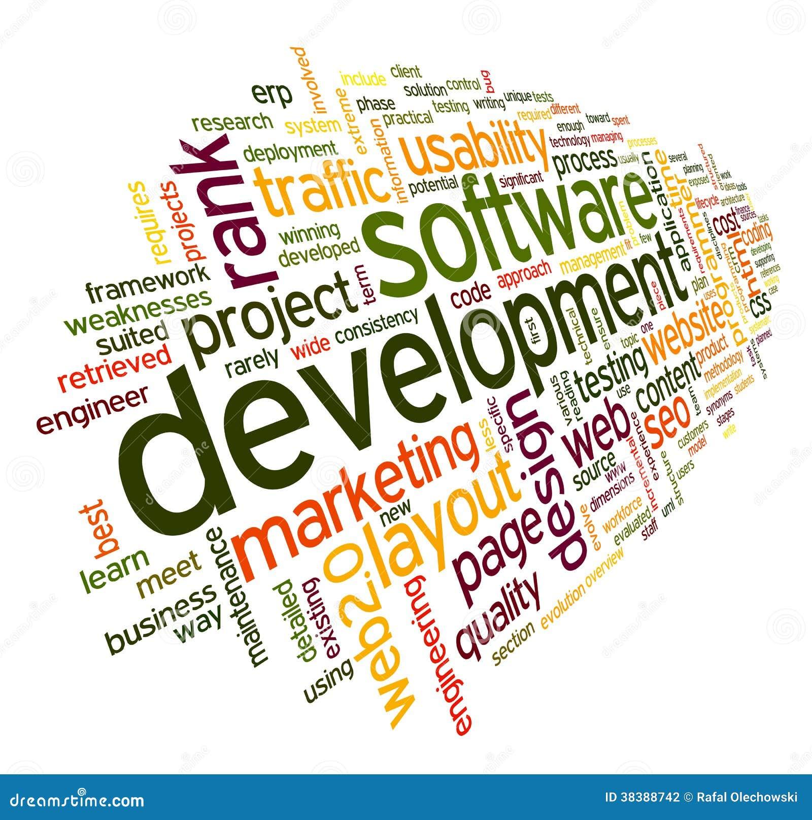 在标记云彩的软件开发概念