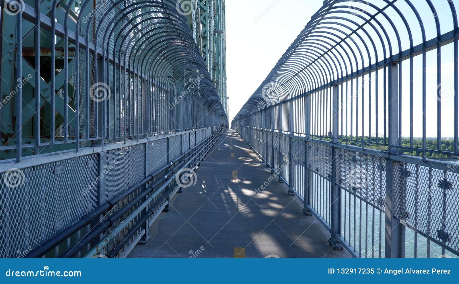 在桥梁的自行车道路