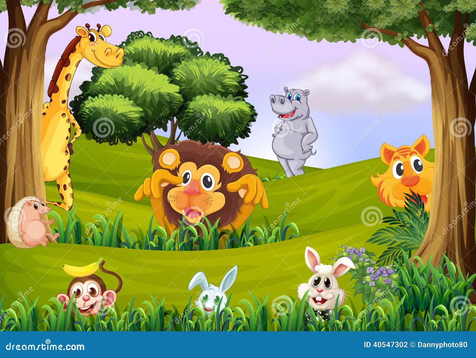 动物的例证在森林的.图片