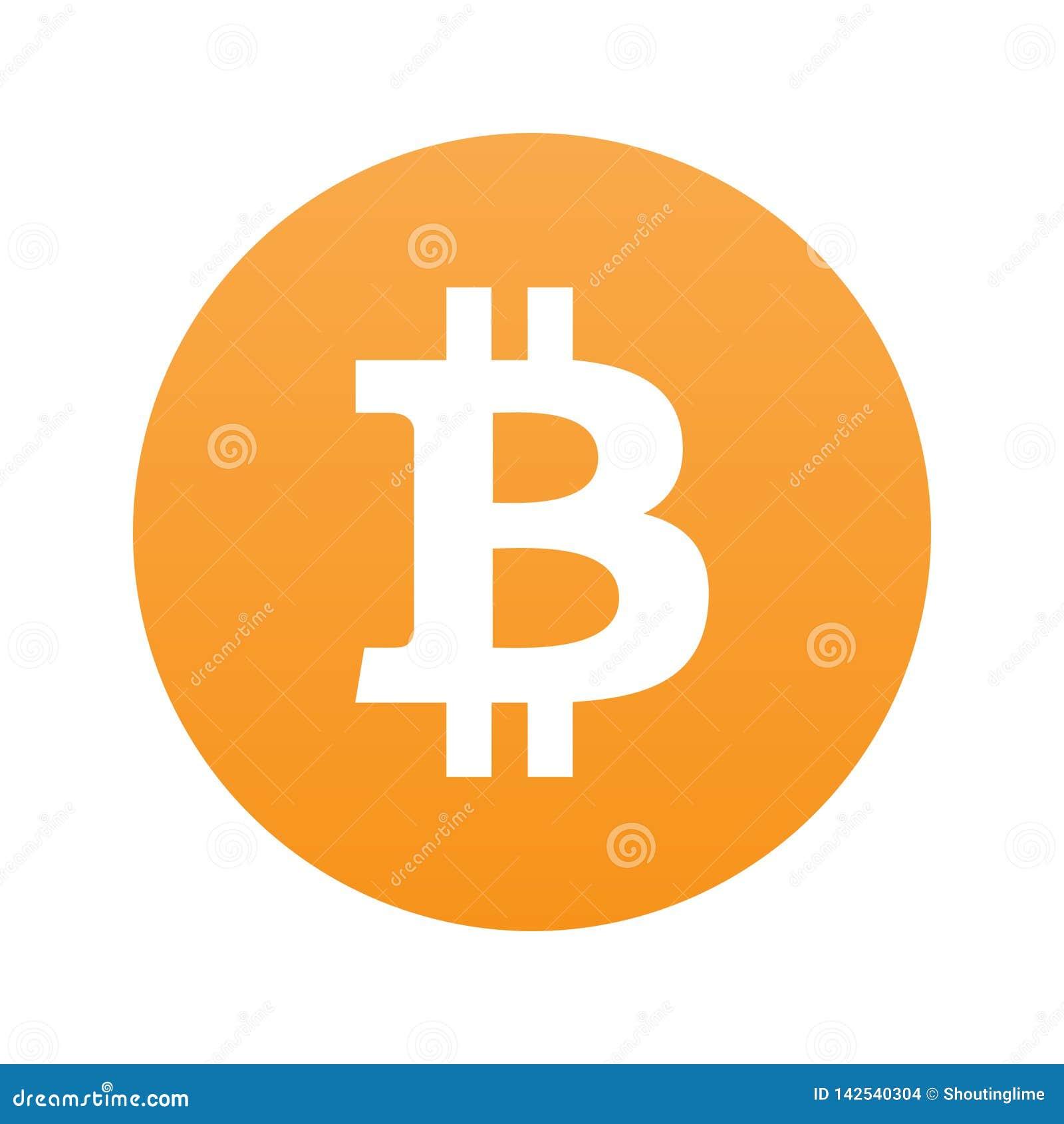 在橙色bg隔绝的Bitcoin平的象