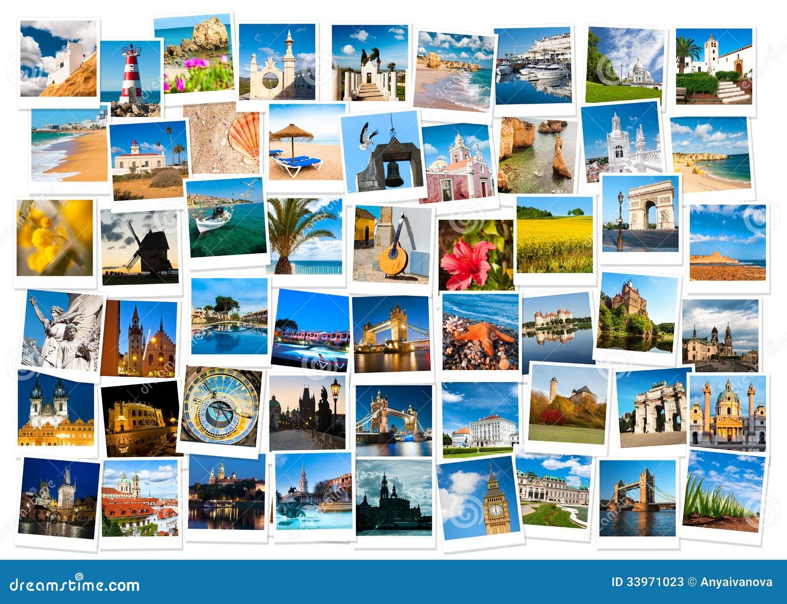 在欧洲拼贴画的旅行
