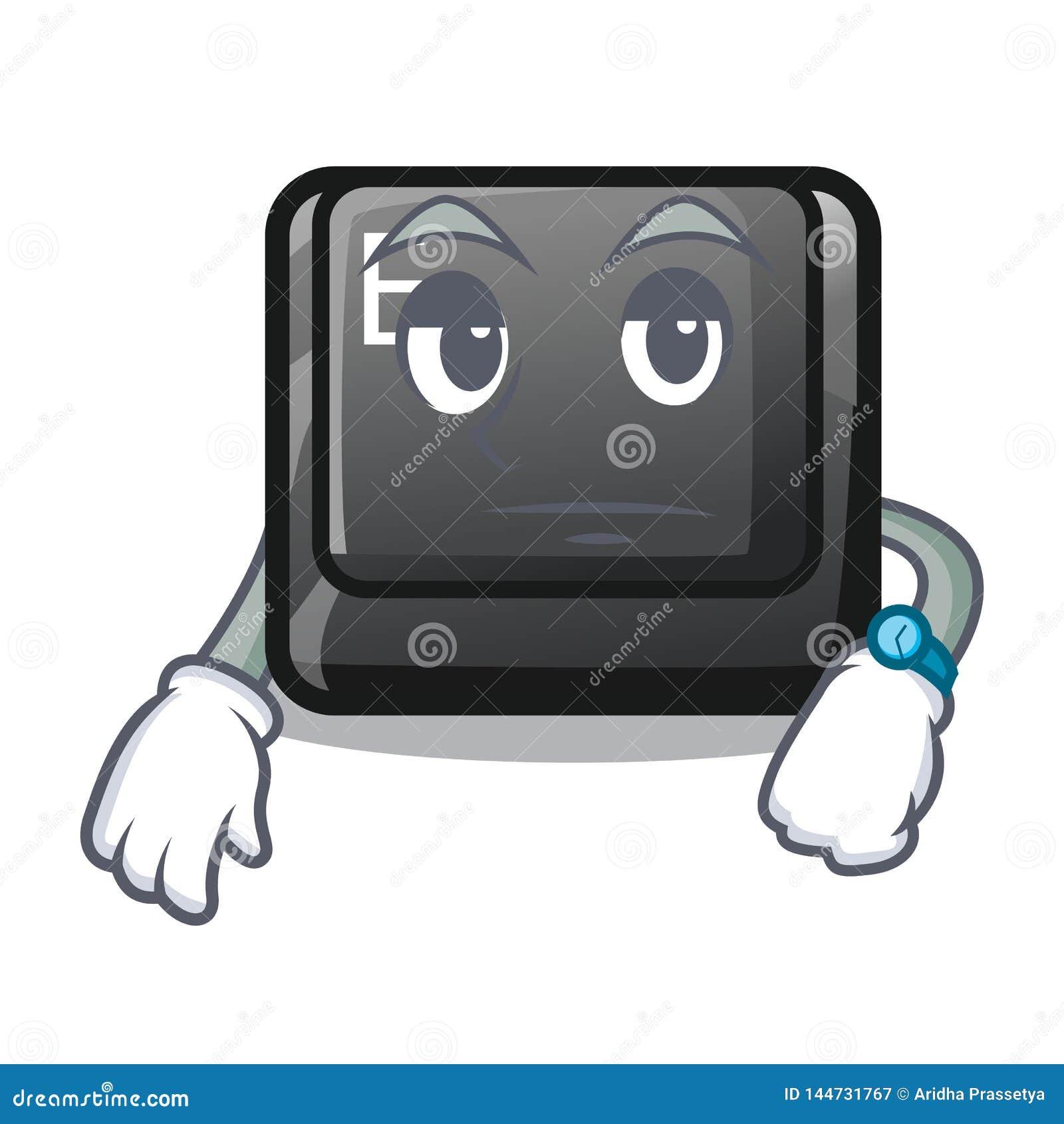 在比赛动画片的等待的按钮E