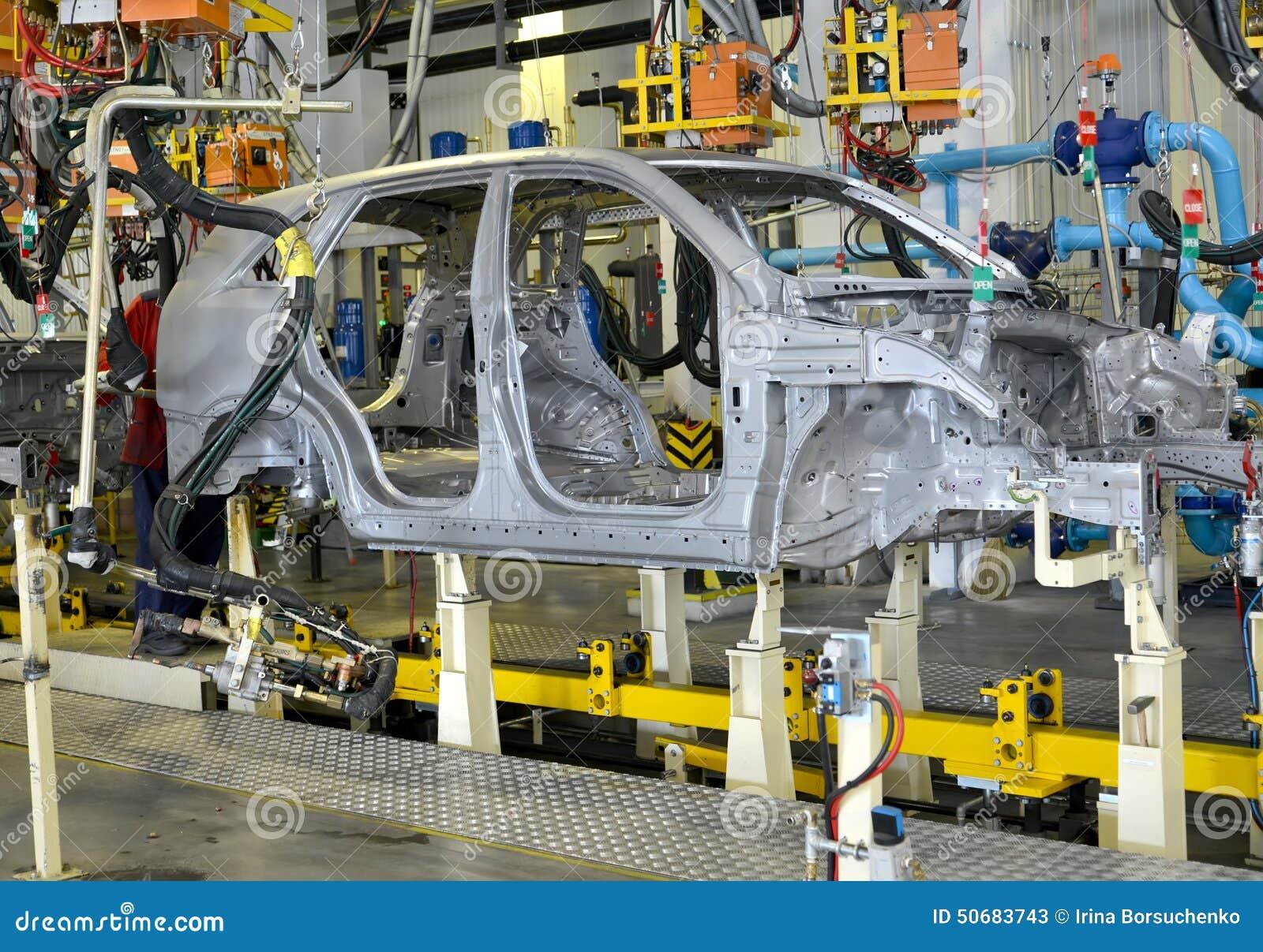 Download 在汽车植物察觉汽车身体联络焊接 库存图片. 图片 包括有 小点, 联络, 焊接, 生产, 俄国, 爱好健美者 - 50683743