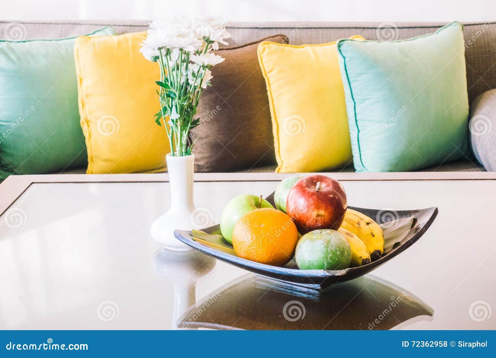 在沙发的枕头
