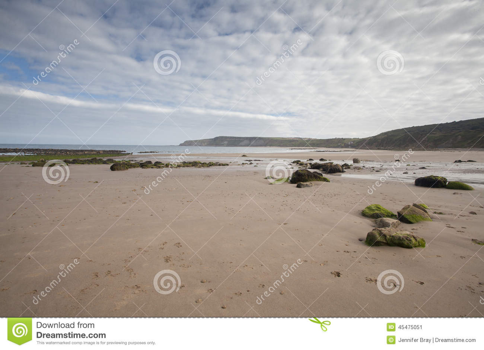 在沙子海景的脚印