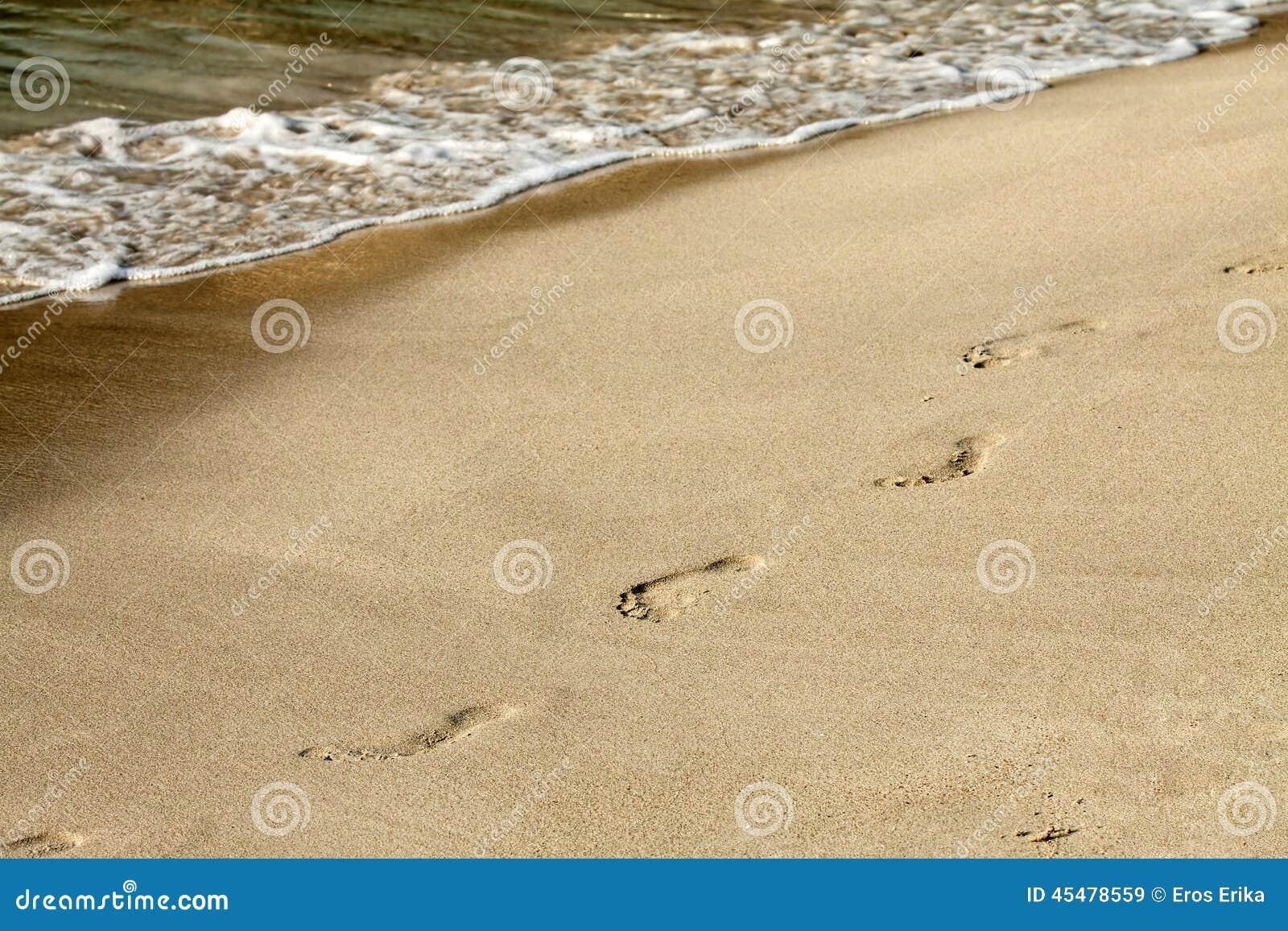 在沙子的脚步