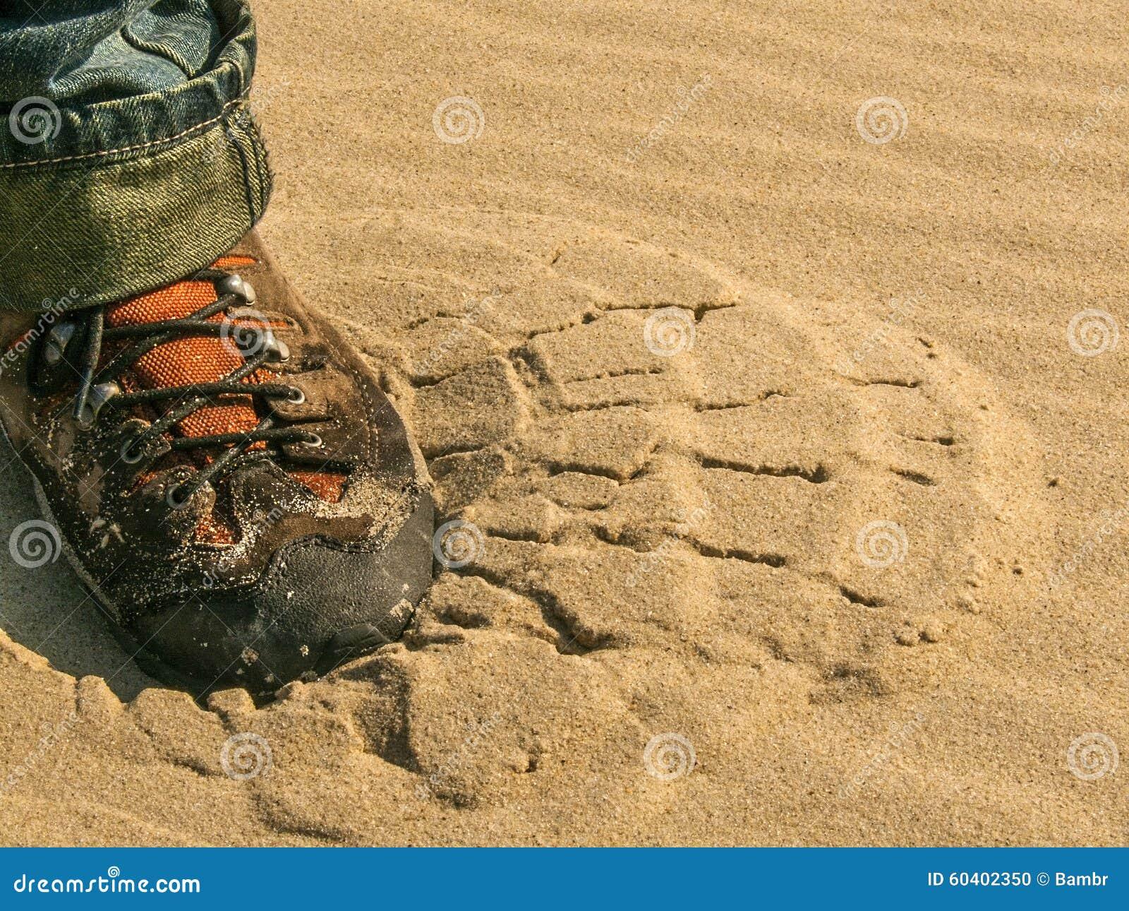 在沙子的邮票