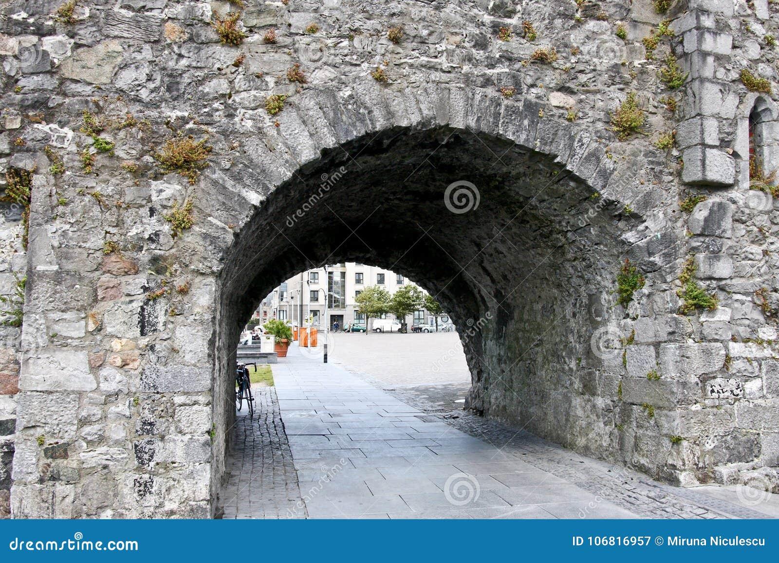 在河Corrib,戈尔韦市,戈尔韦郡附近的西班牙曲拱