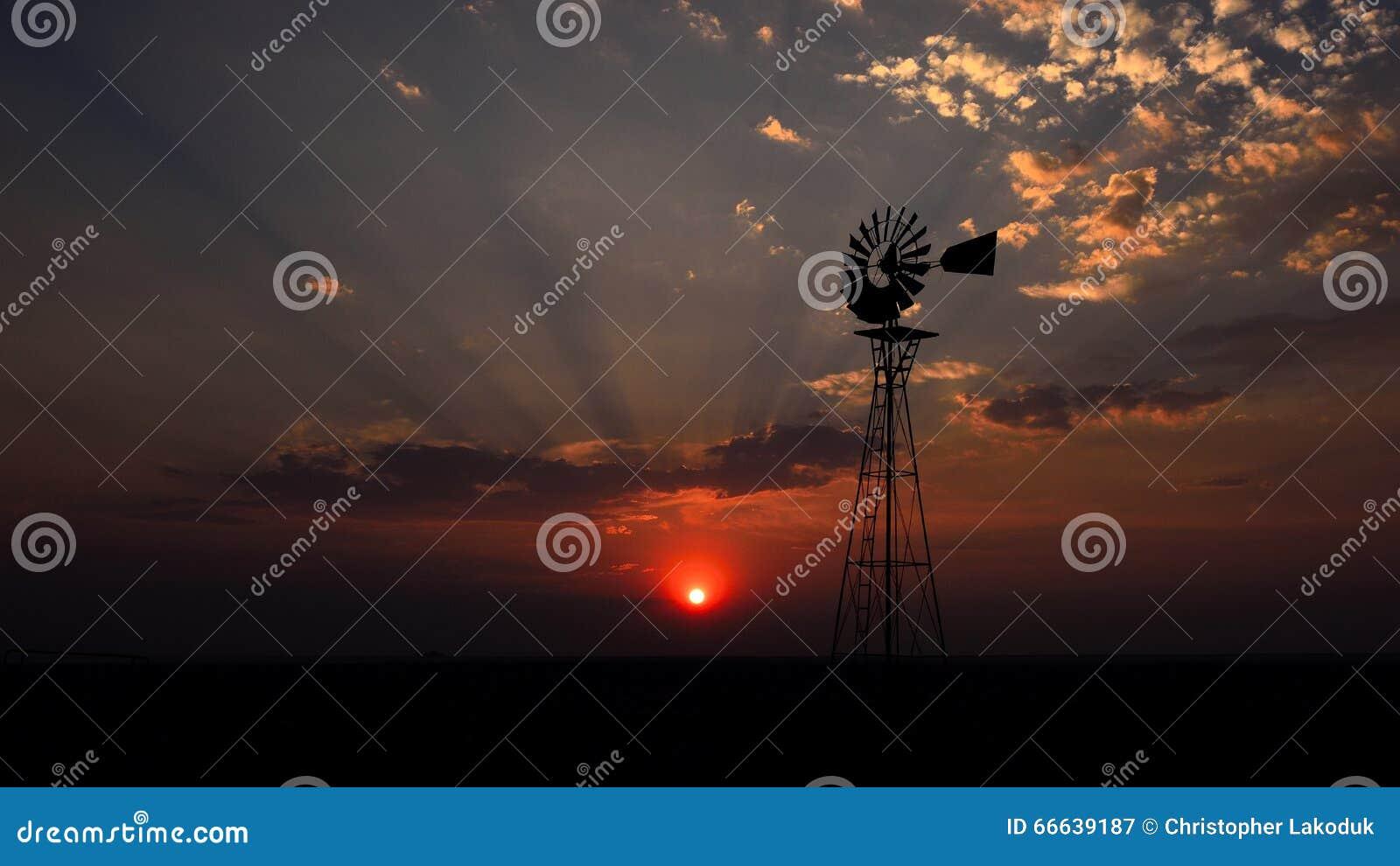 在法国落日风车之后