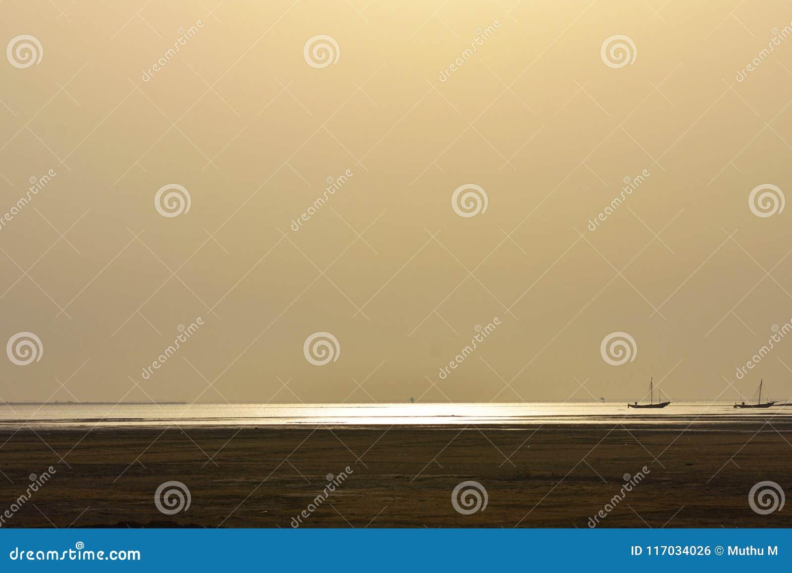 在海背景的金黄阳光,背景