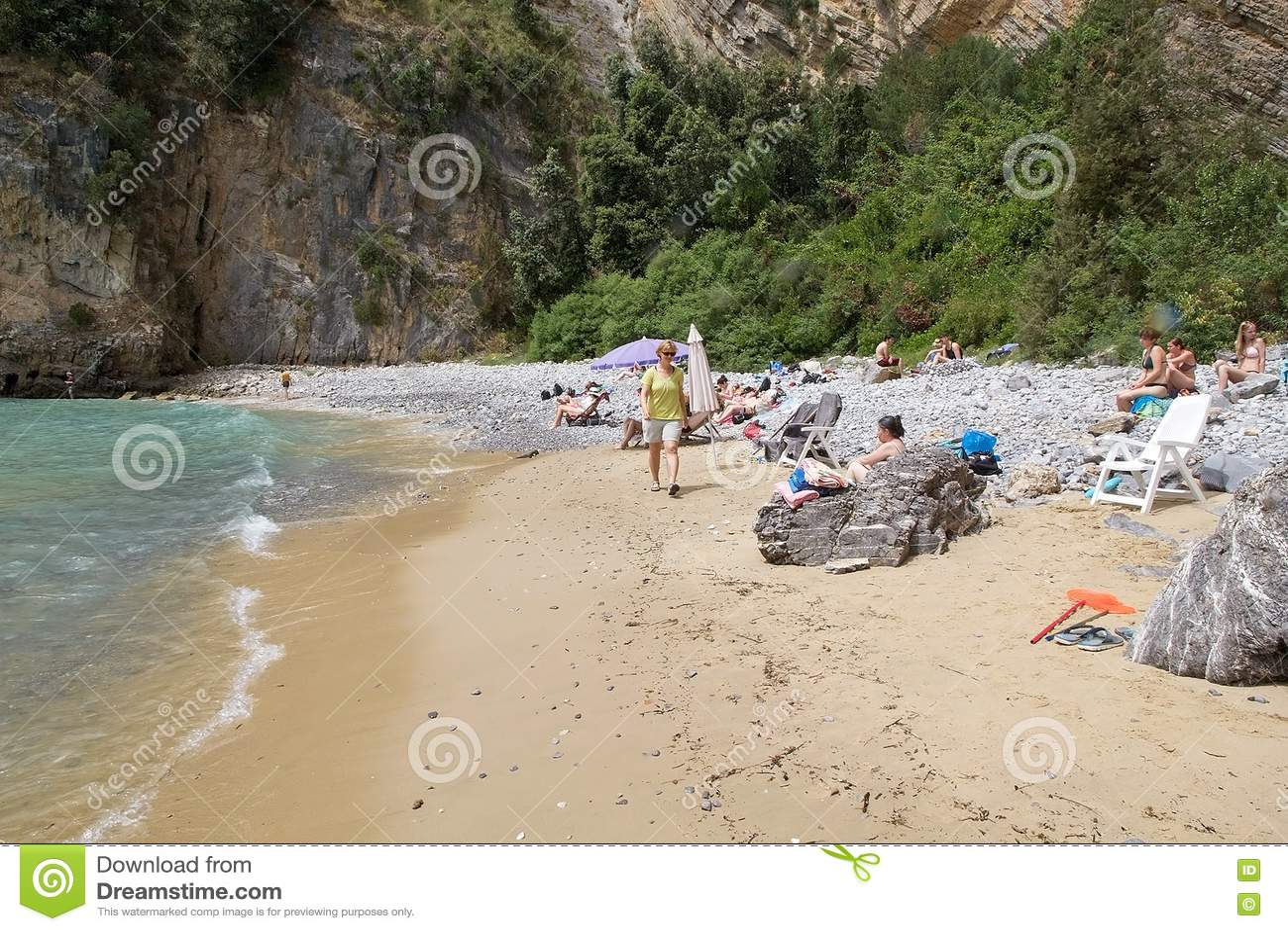 在海角Palinuro,意大利的旅游业