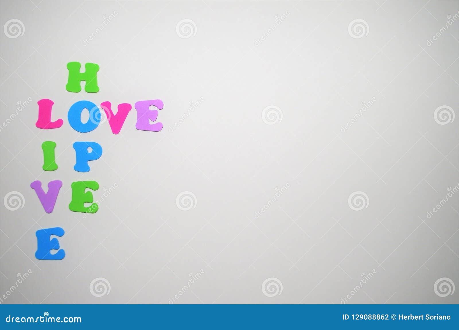 在消息的词希望活爱