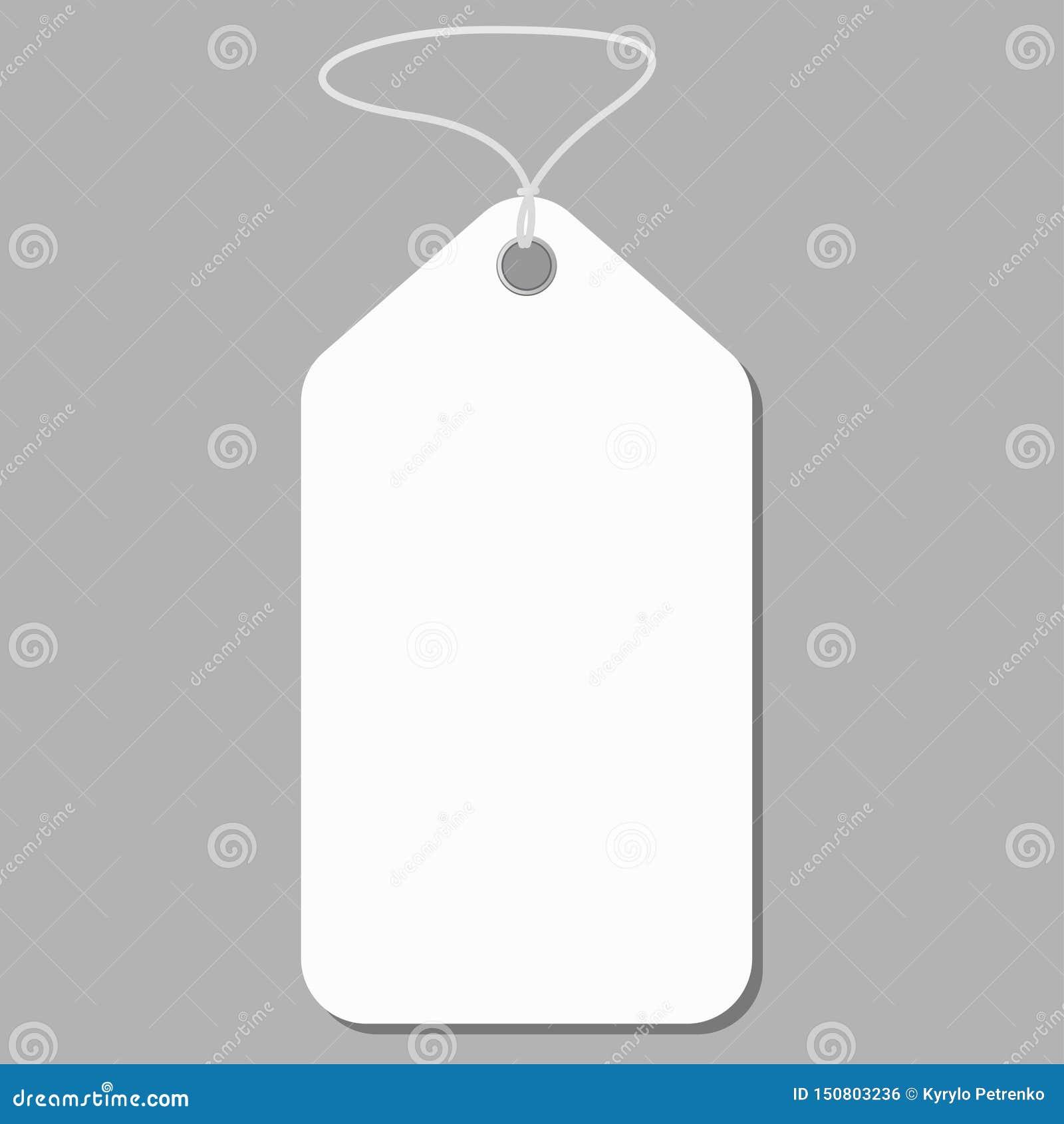 在灰色背景传染媒介的白色空白的标记