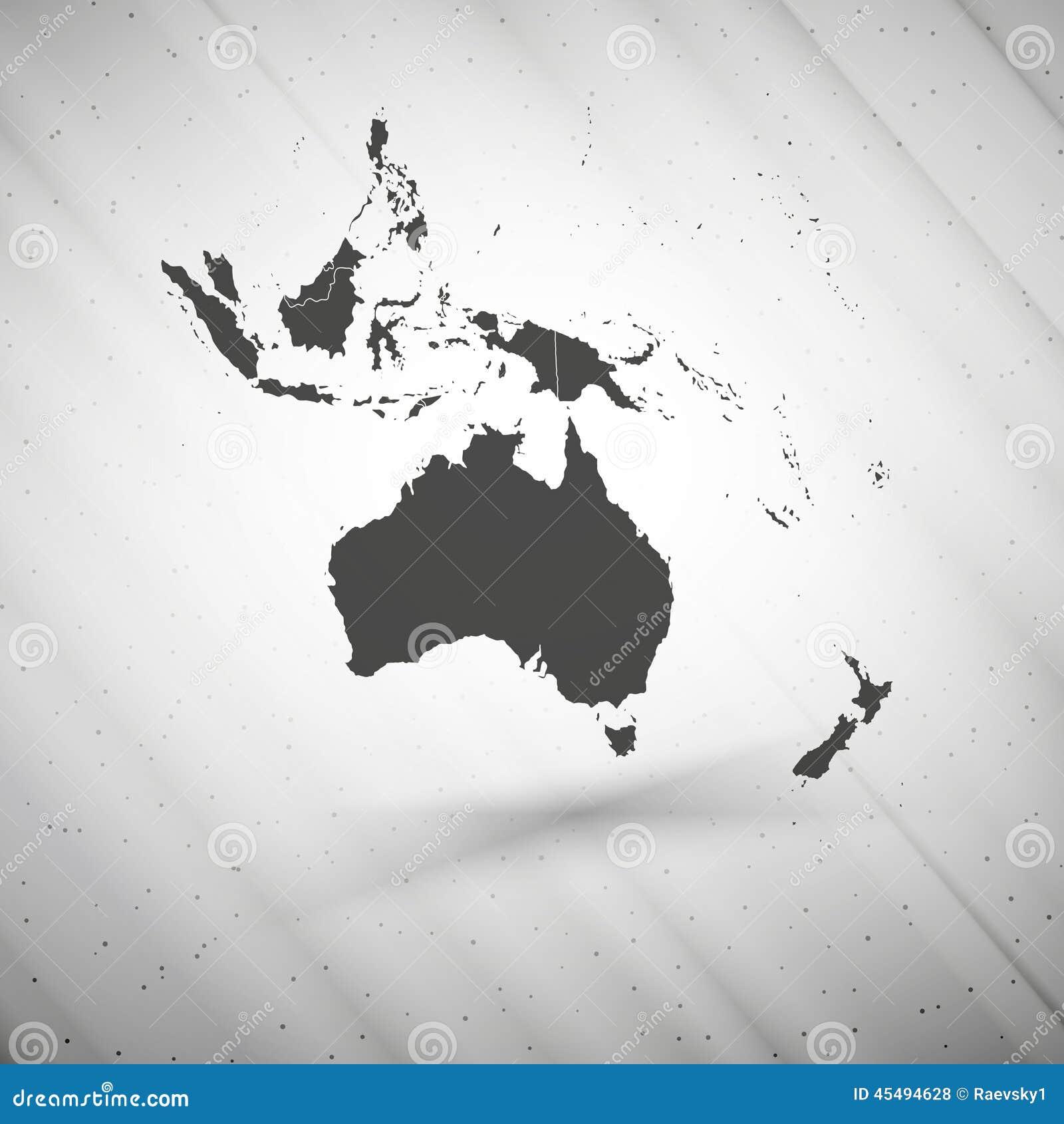 在灰色背景,难看的东西纹理的澳大利亚地图