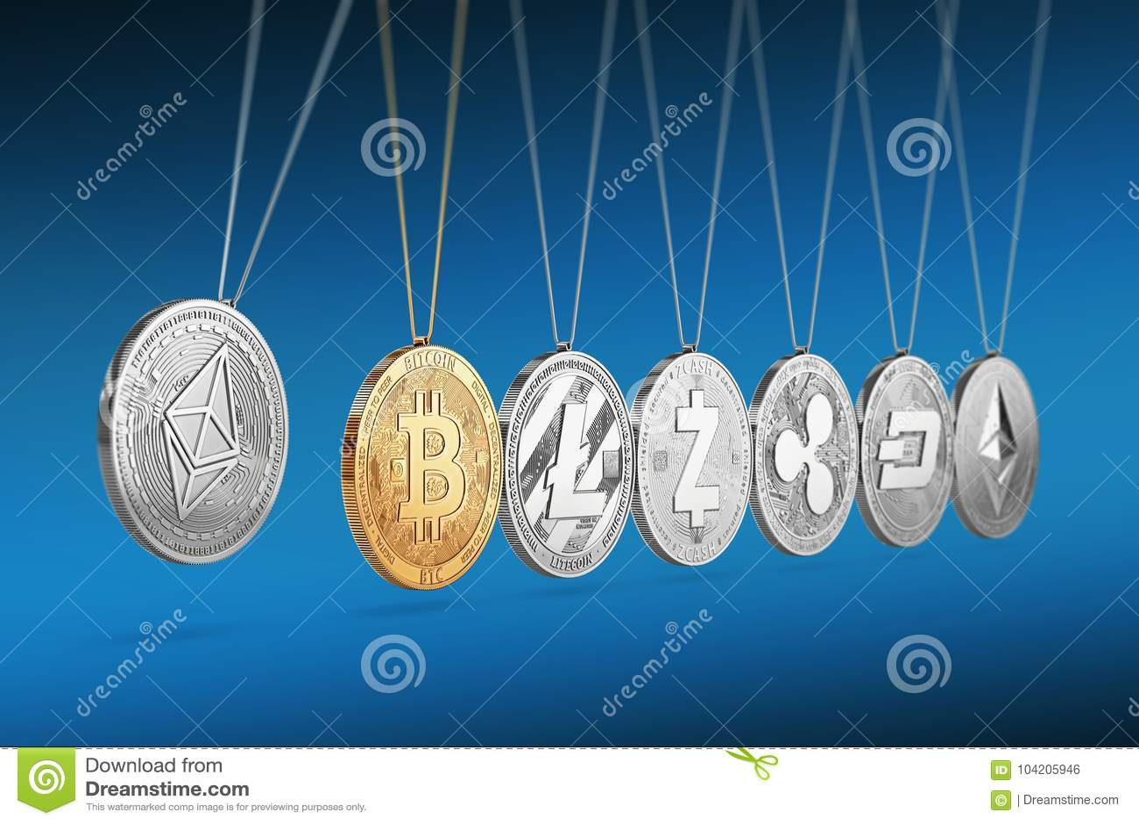 在牛顿` s摇篮的Ethereum硬币促进并且加速其他cryptocurrencies和反复
