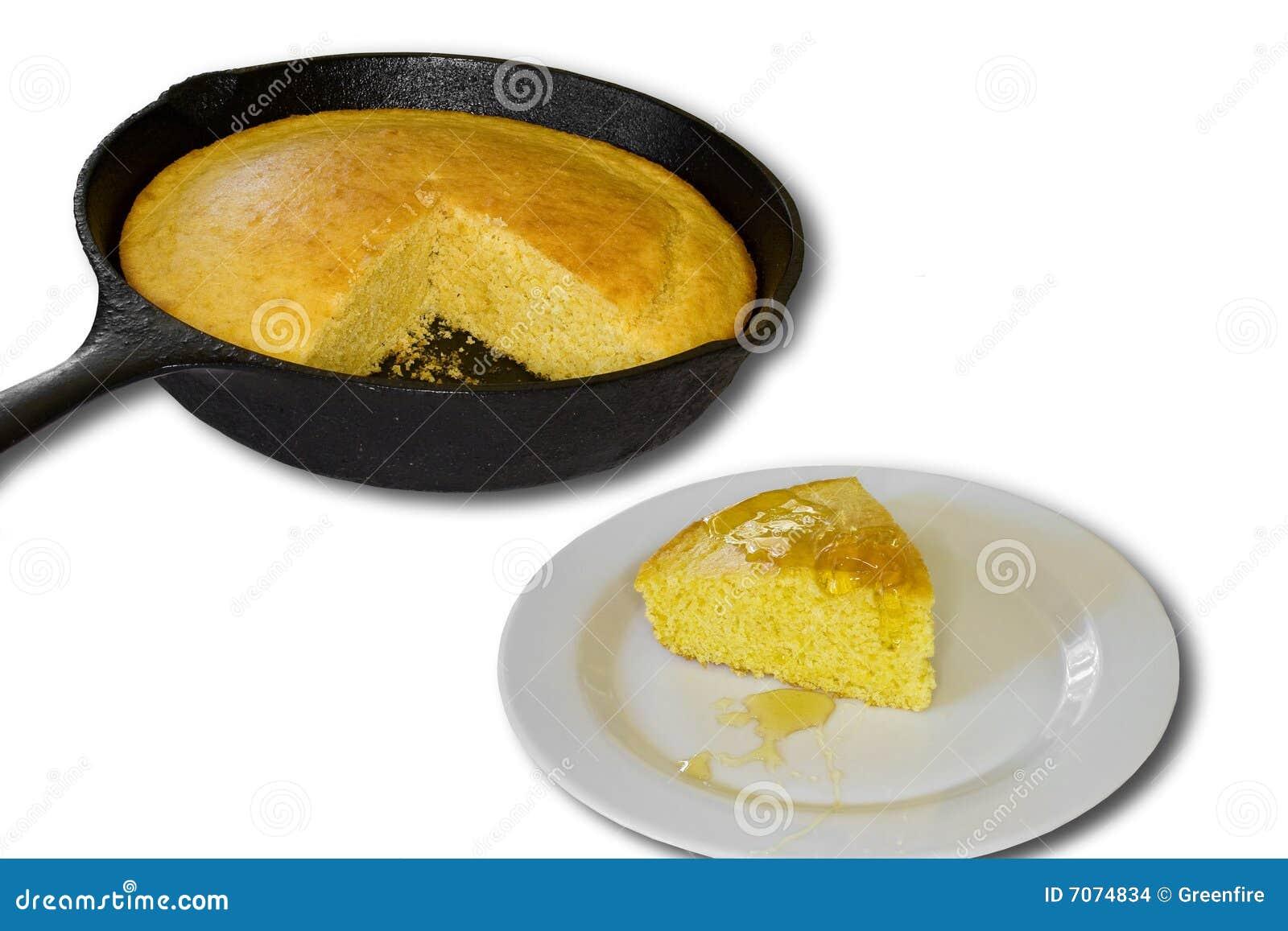 在玉米上添面包
